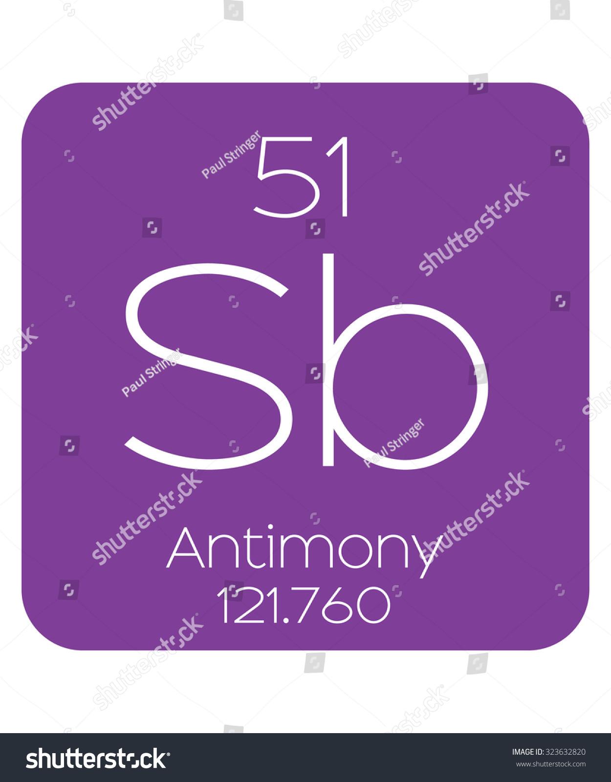 Periodic table elements antimony stock vector 323632820 shutterstock the periodic table of the elements antimony gamestrikefo Choice Image