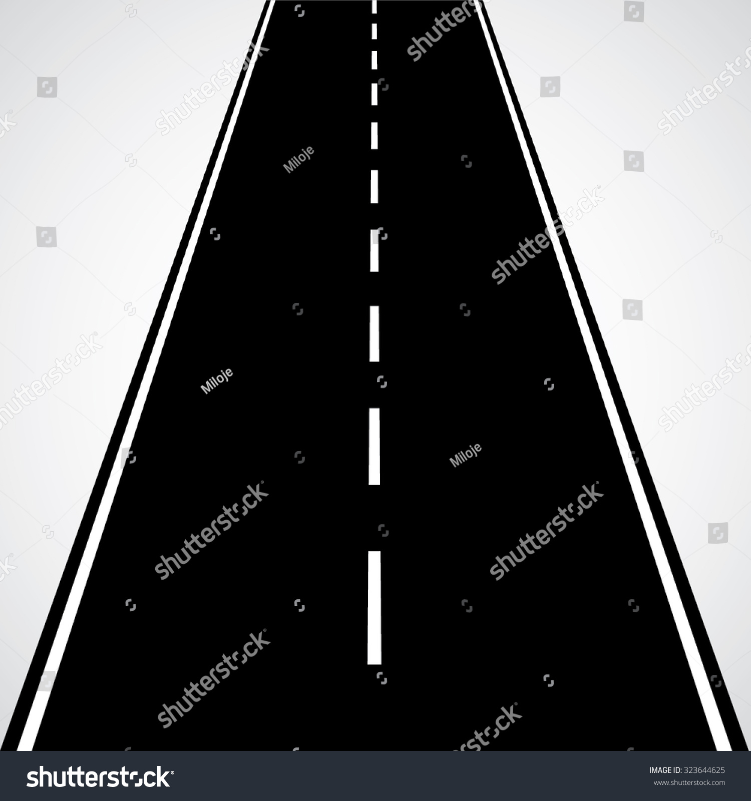 Straight Road White Lines Dashed Lines Stock Vector HD (Royalty Free ... for Straight Road Vector Free Download  70ref