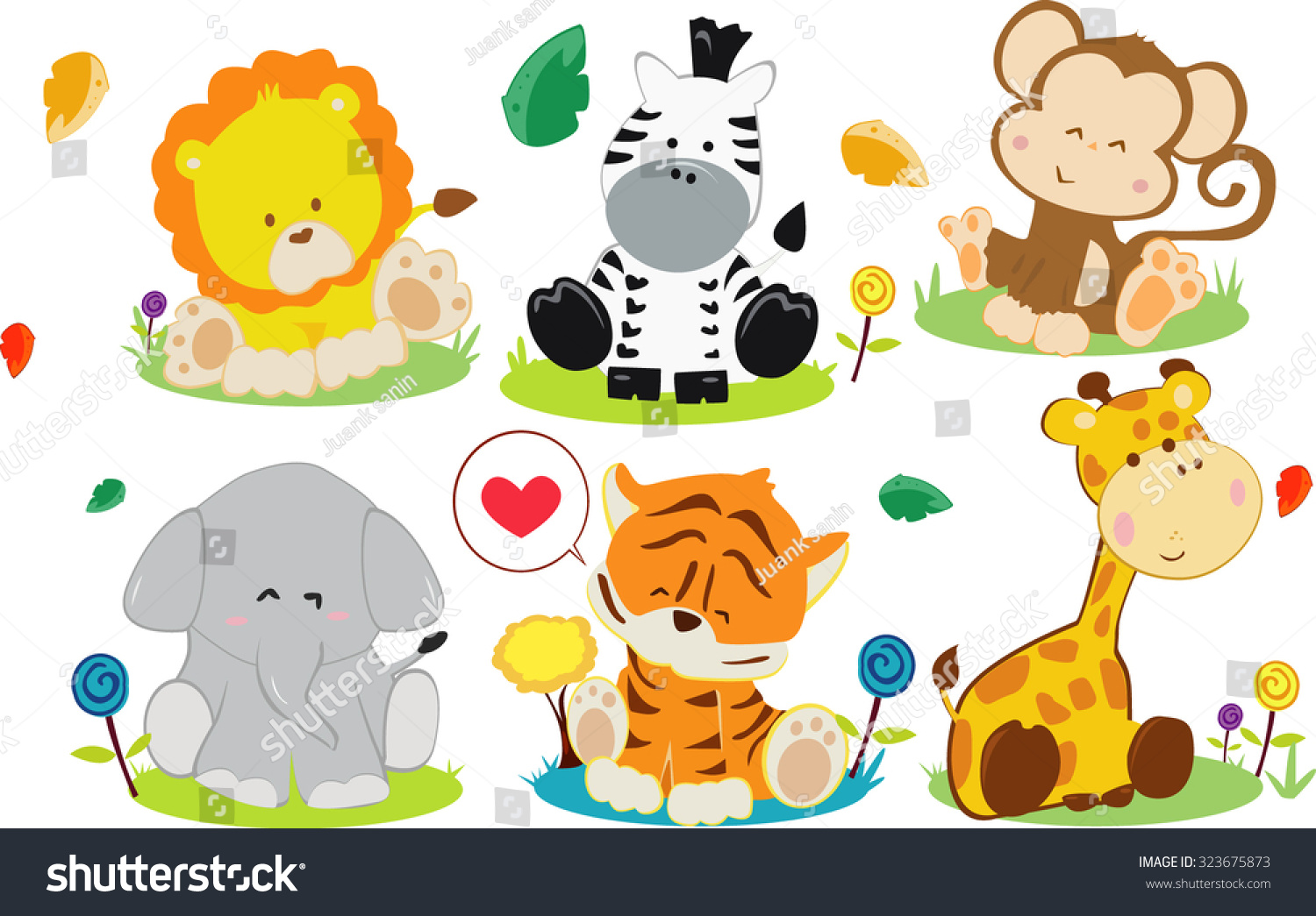 Cartoon baby animals free vector download 18522 Free