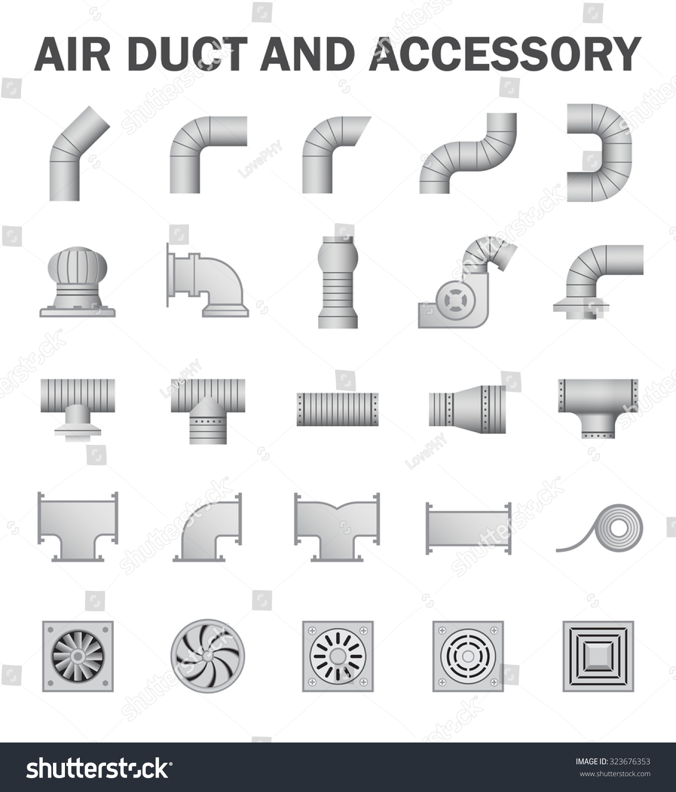 Vector icon air duct pipe pipe stock vector 323676353 shutterstock vector icon of air duct pipe and pipe connector and fan for air conditioning or hvac buycottarizona Image collections
