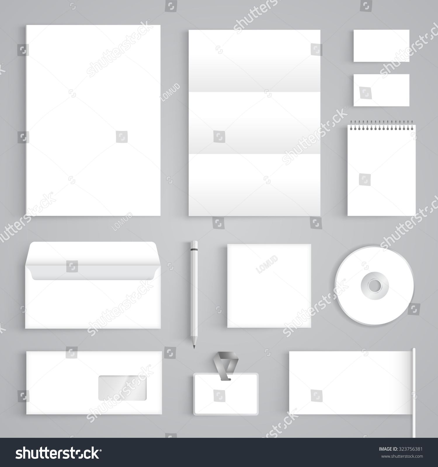 Blank Stationery And Corporate Identity Template Consist: Corporate Identity Branding Blank Mockup Template. Vector