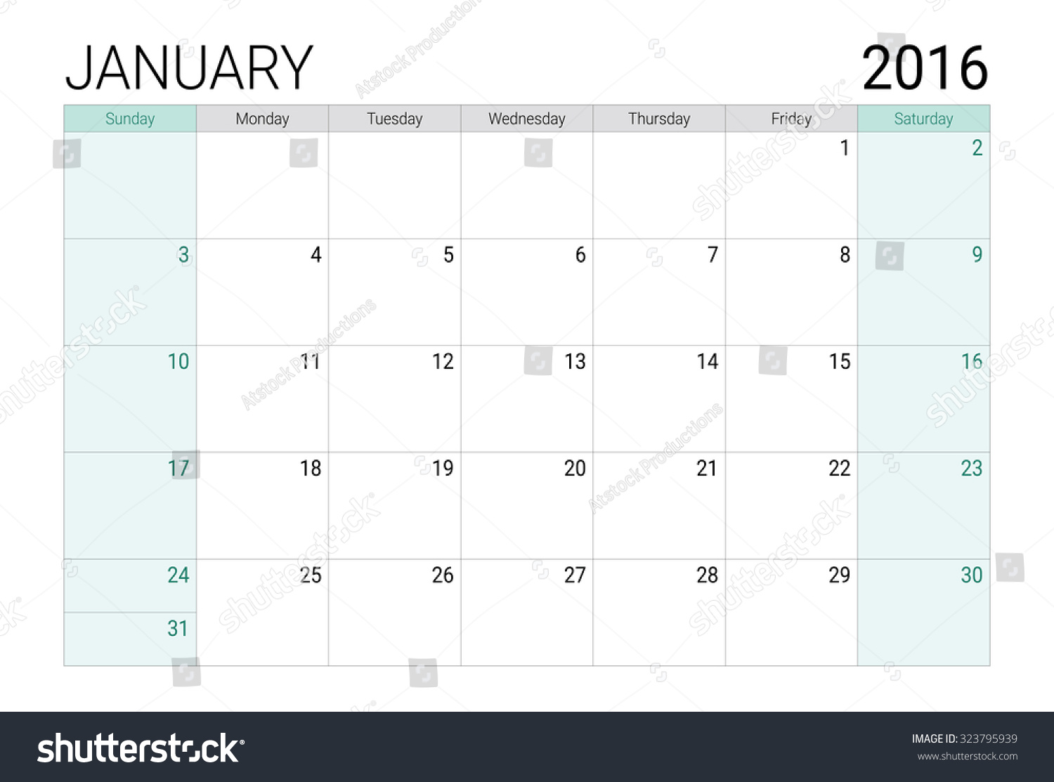 Desk Calendar Planner : January calendar or desk planner stock vector
