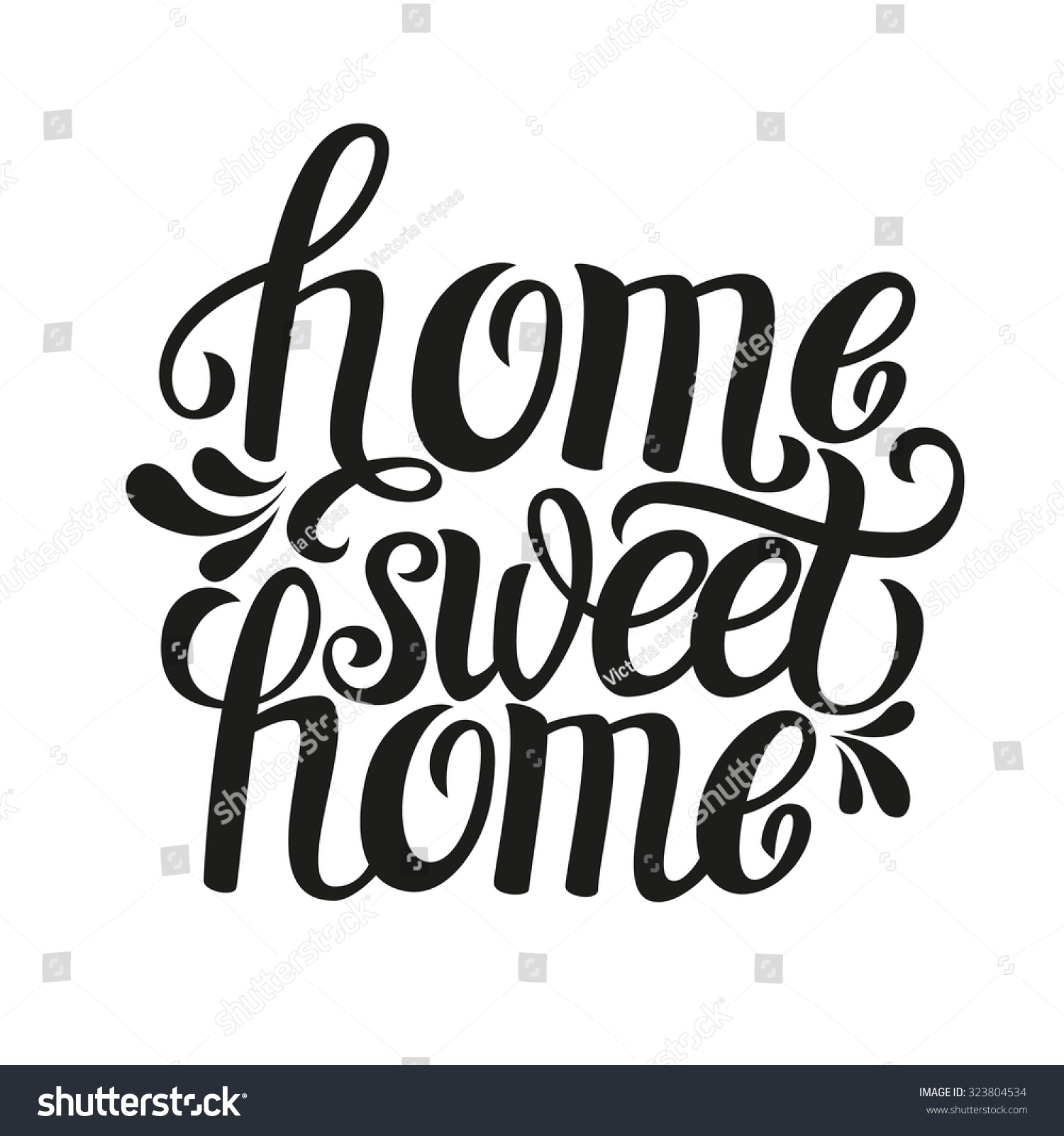 Quote 39;Home Sweet Home39;.For Housewarming Posters, Greeting Cards, Hom
