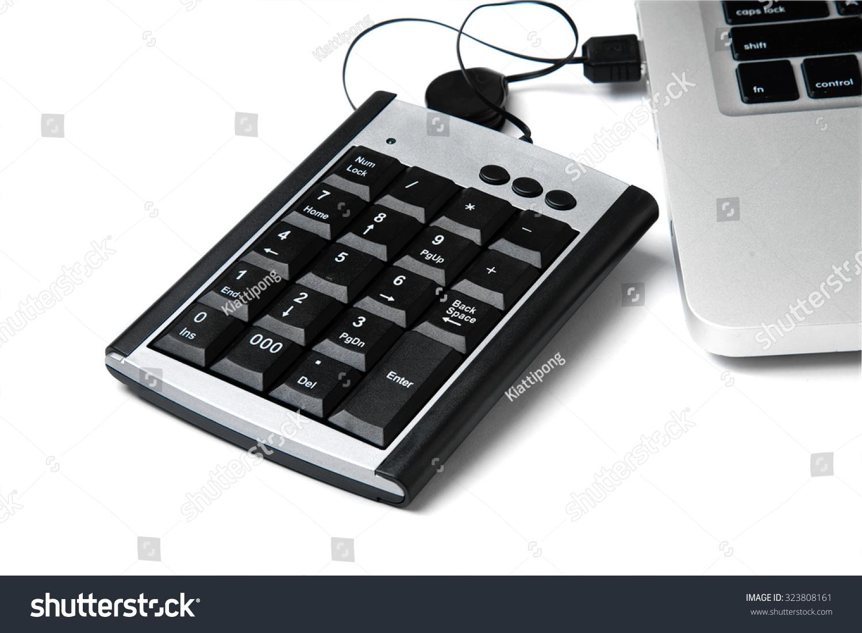 Usb Numeric Keyboard Isolate On White Stock Photo Edit Now Background