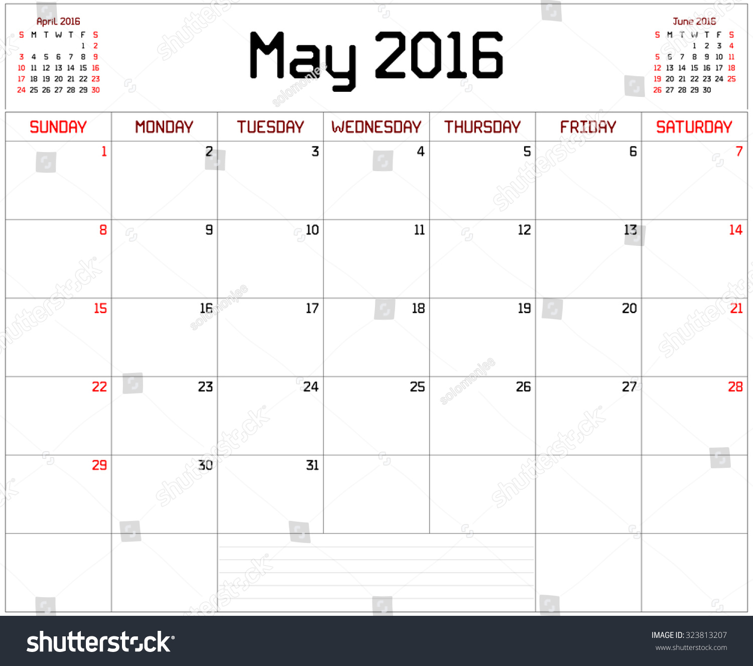 Calendar Planner For May : Year may planner monthly stock illustration