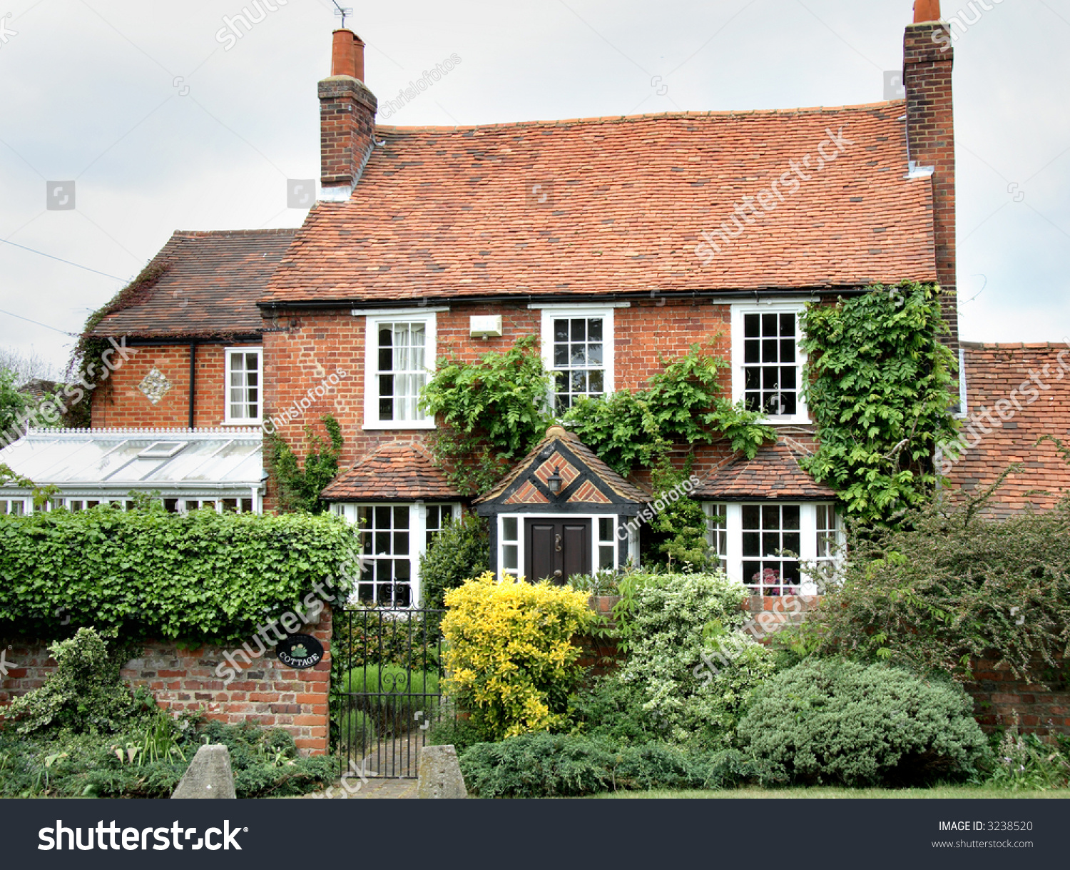Red Brick Village House Rural England Stock Photo 3238520
