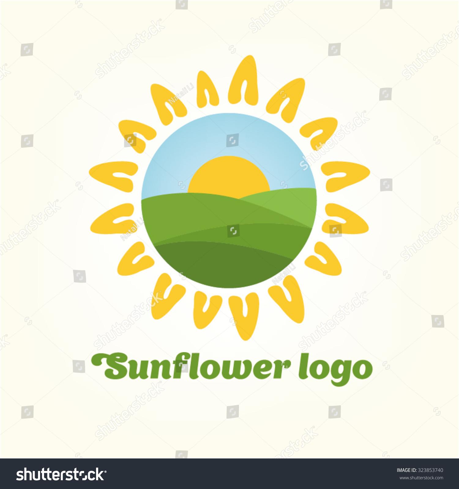 Royalty Free Logo Sunflower Yellowflower Sun Summer 323853740