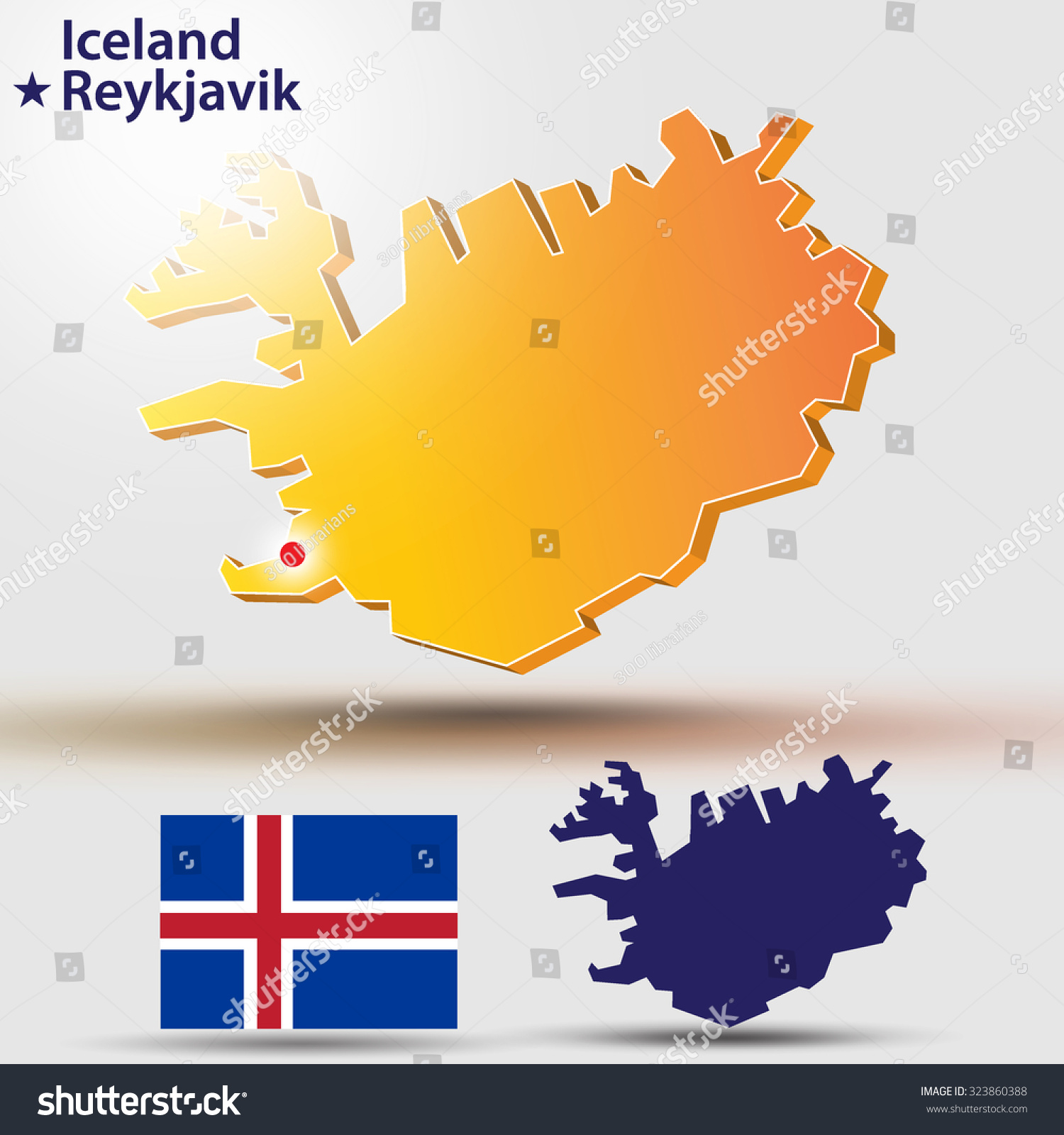 Astounding iceland map vector pictures