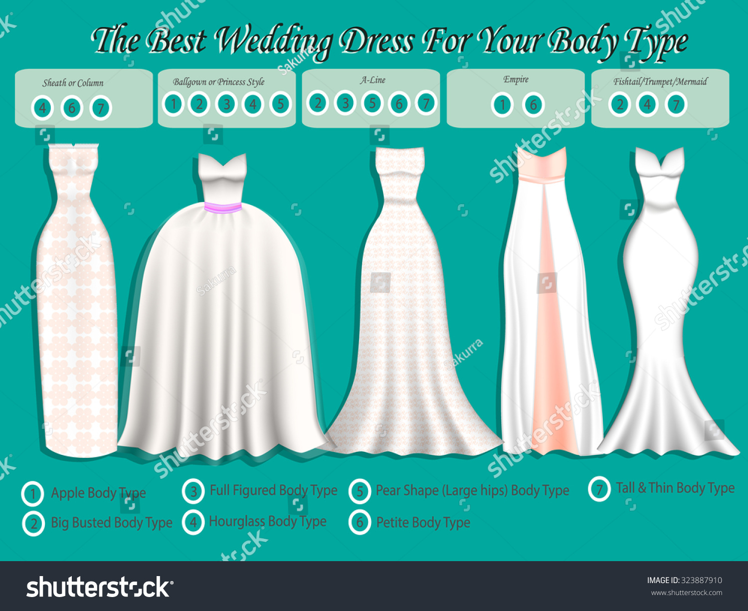 Wedding Dress Body Type Wedding Dress Stock Vector Royalty Free