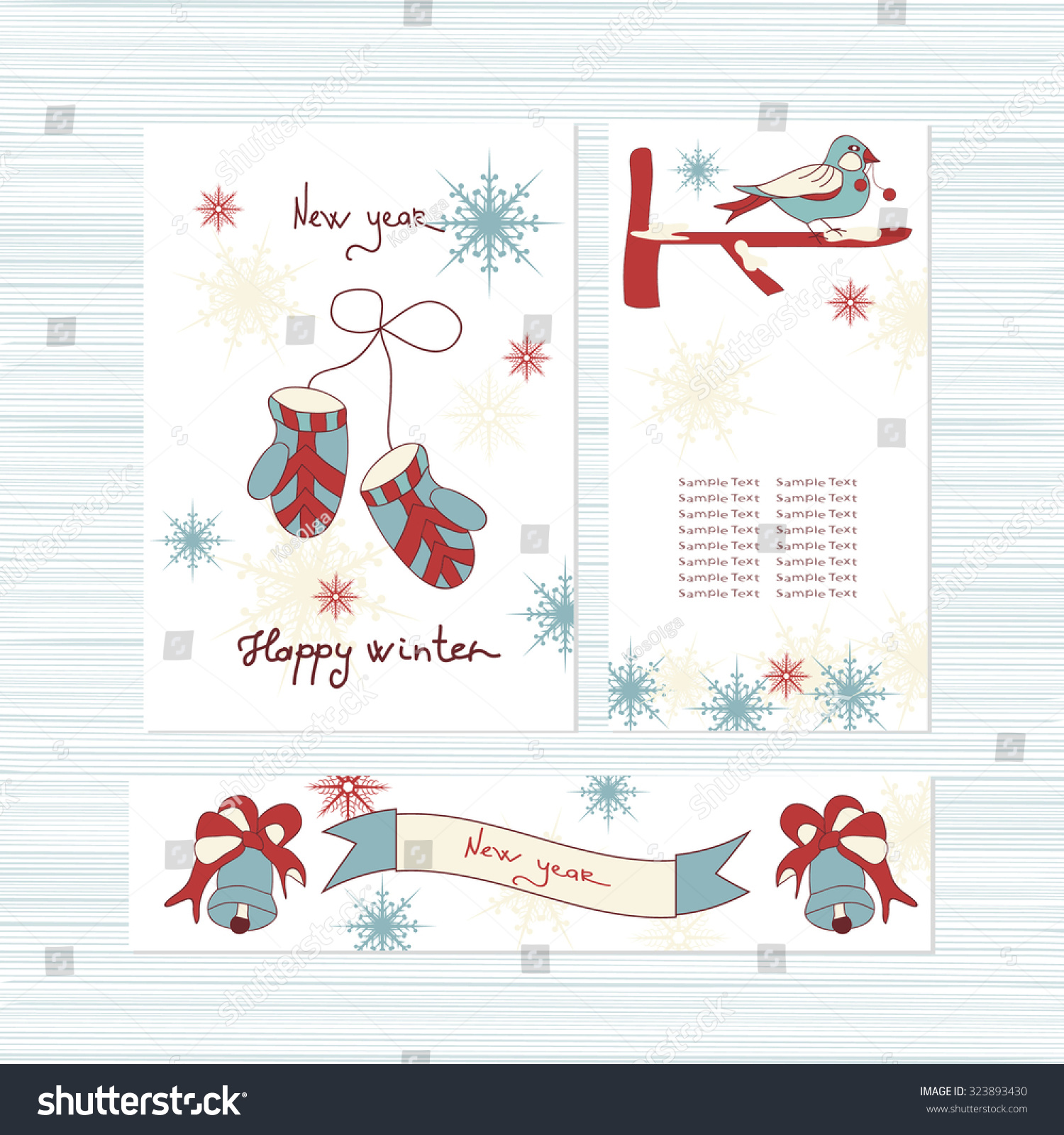 New Year Greeting Card Invitation Template Stock Vector 323893430