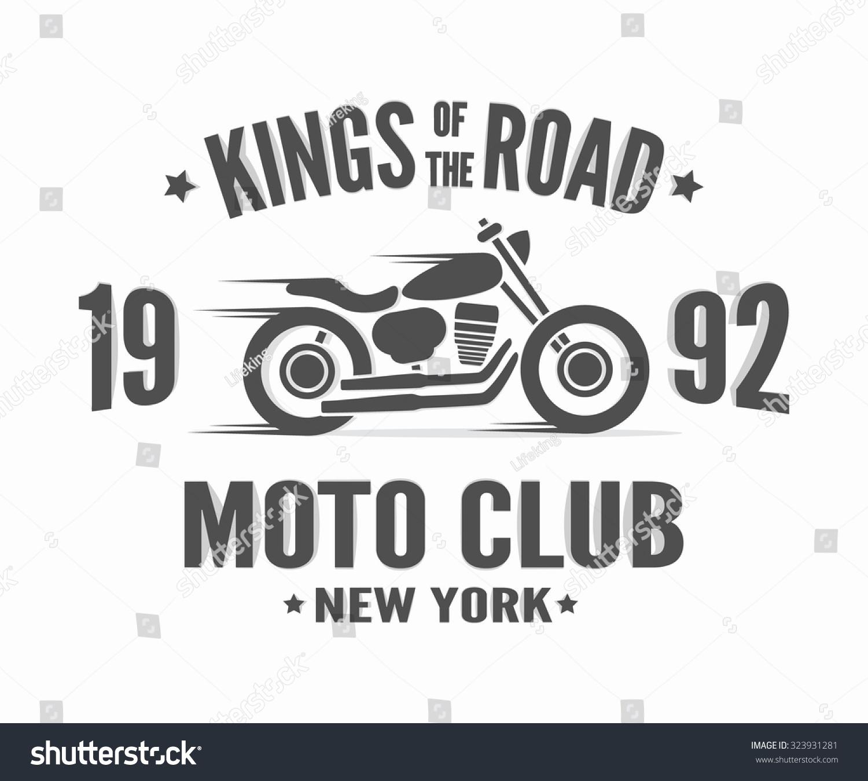 Shirt design vintage - Vintage Motorcycle Label T Shirt Design