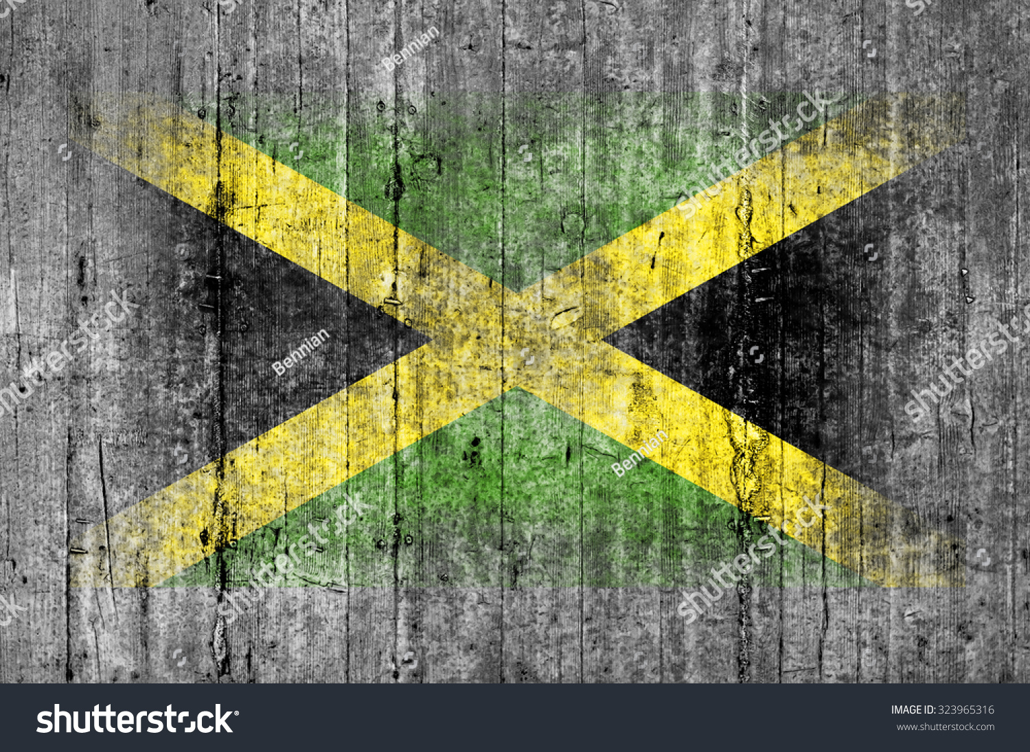Jamaican Flag Painted On Face Of A National Team Supporter, Close ...