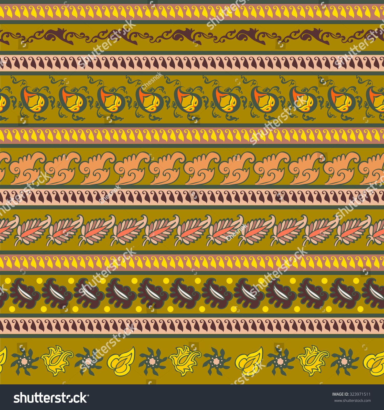 Seamless Pattern Decoration Patterns Form Flowers Stock Illustration
