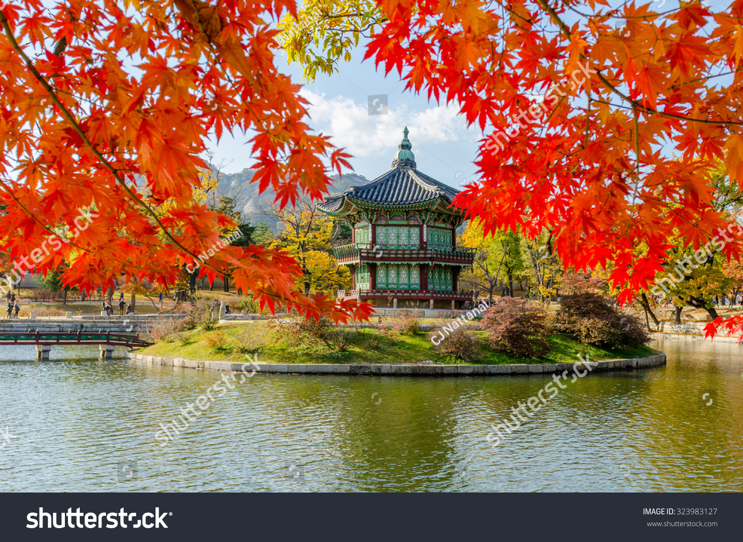 Autumn Gyeongbokgung Palace Seoul Korea Stock Photo