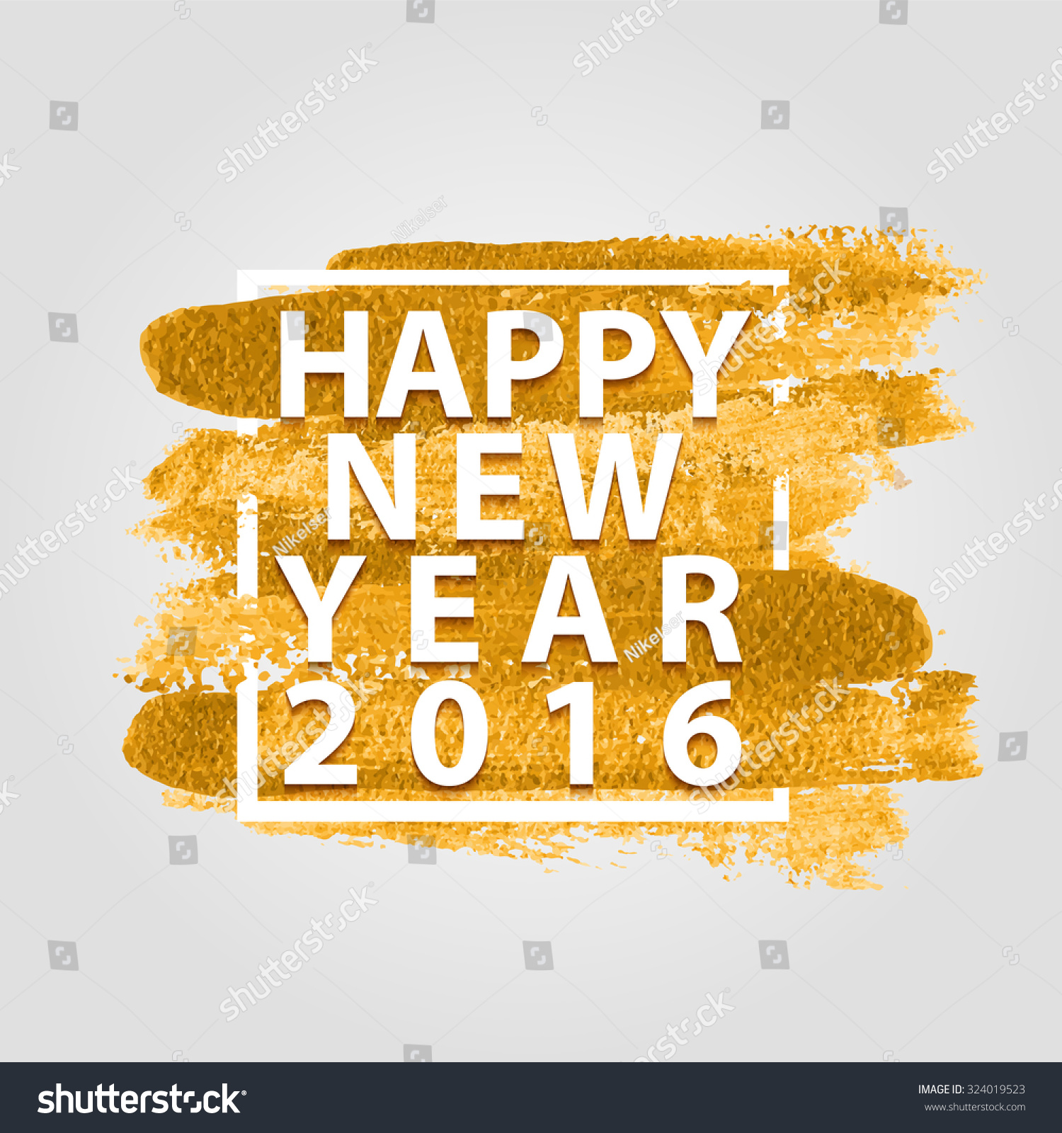 Happy New Year 2016 Quotes On Stock Vector Royalty Free 324019523