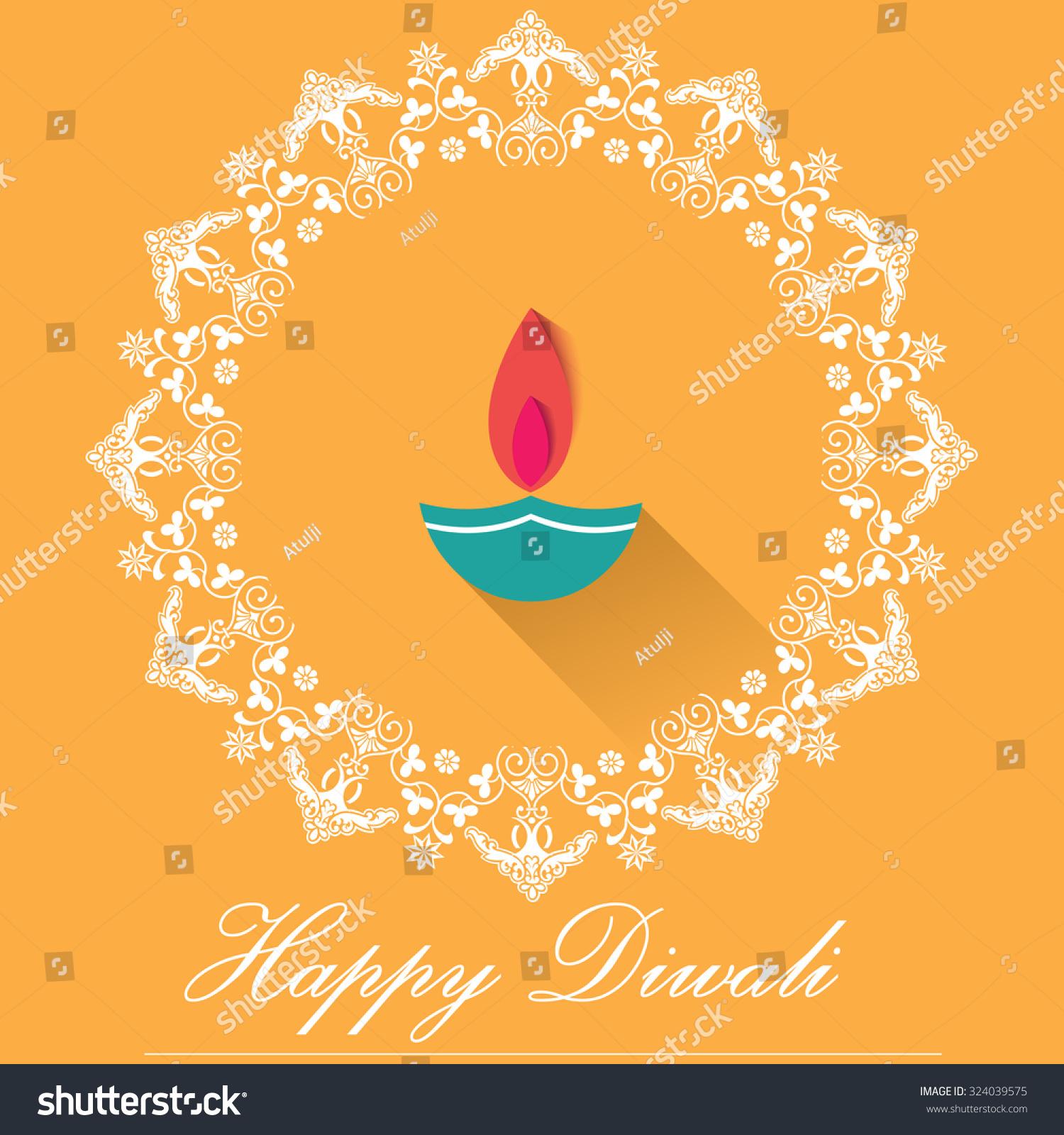 Decorative diwali lamps happy diwali greeting stock vector decorative diwali lamps happy diwali greeting card flat design vector eps10 kristyandbryce Choice Image