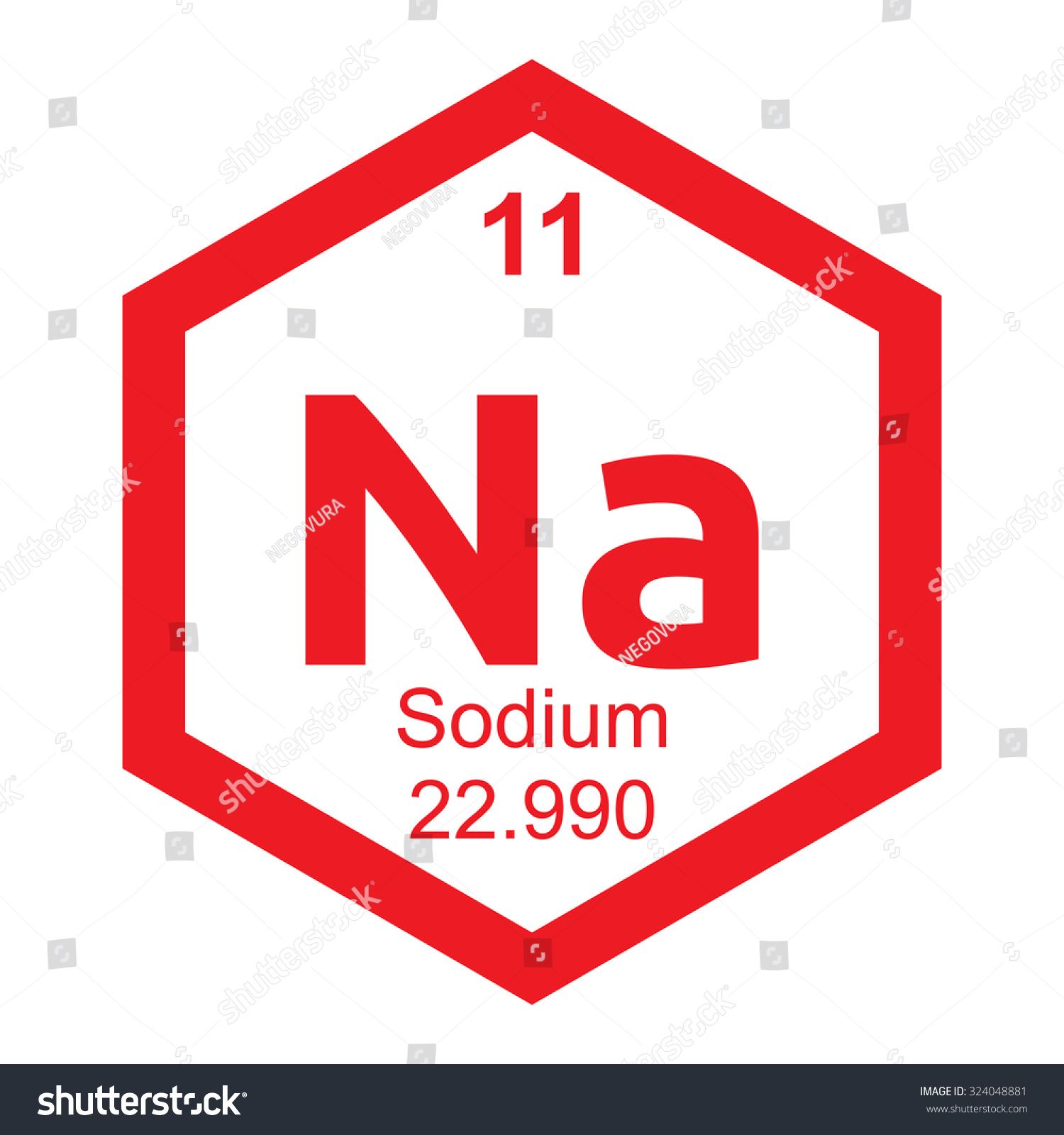 Periodic table sodium element stock vector 324048881 shutterstock periodic table sodium element gamestrikefo Image collections