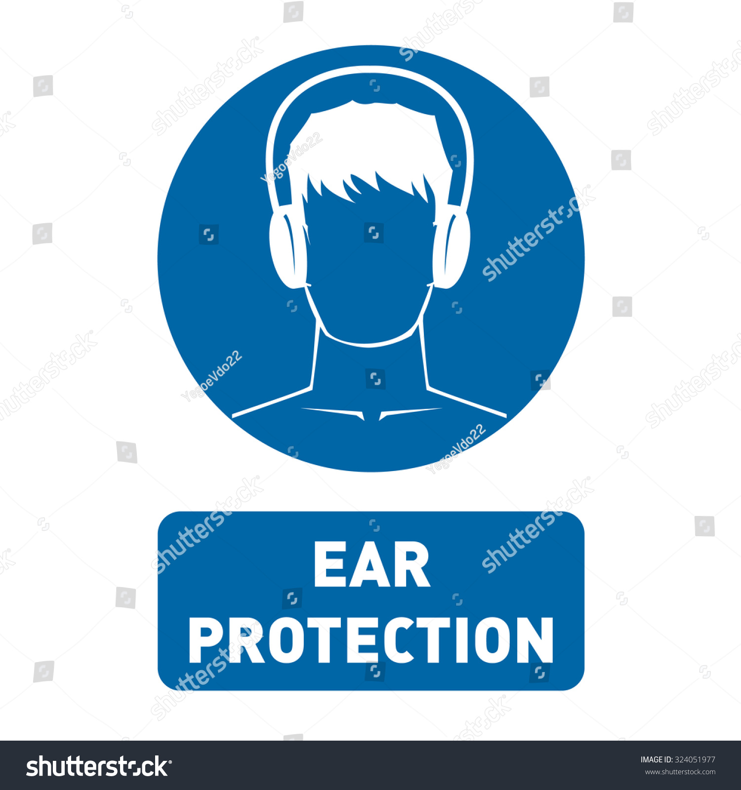Ear Protection Vector Icon Stock Vector Royalty Free 324051977