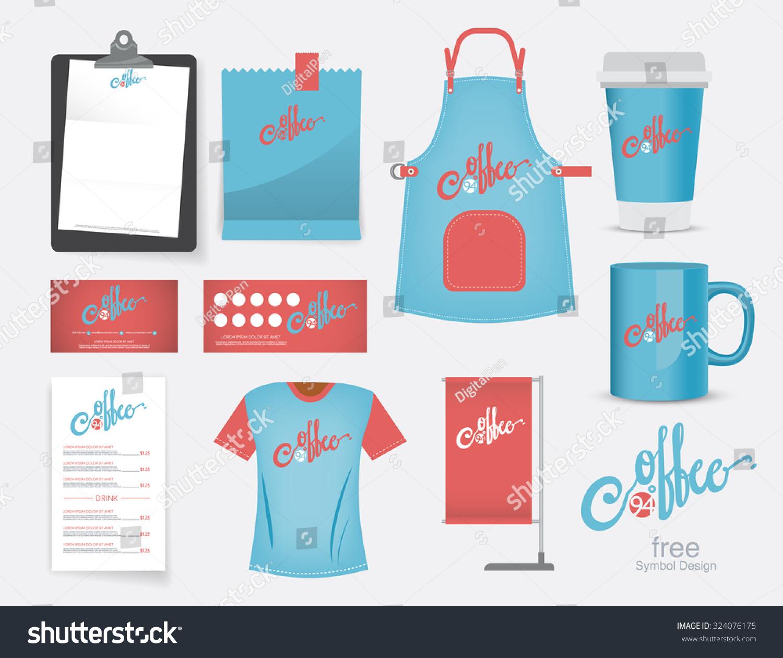 Shirt design card - Vector Coffee Cafe Restaurant Set T Shirt Menu Name Card And Free