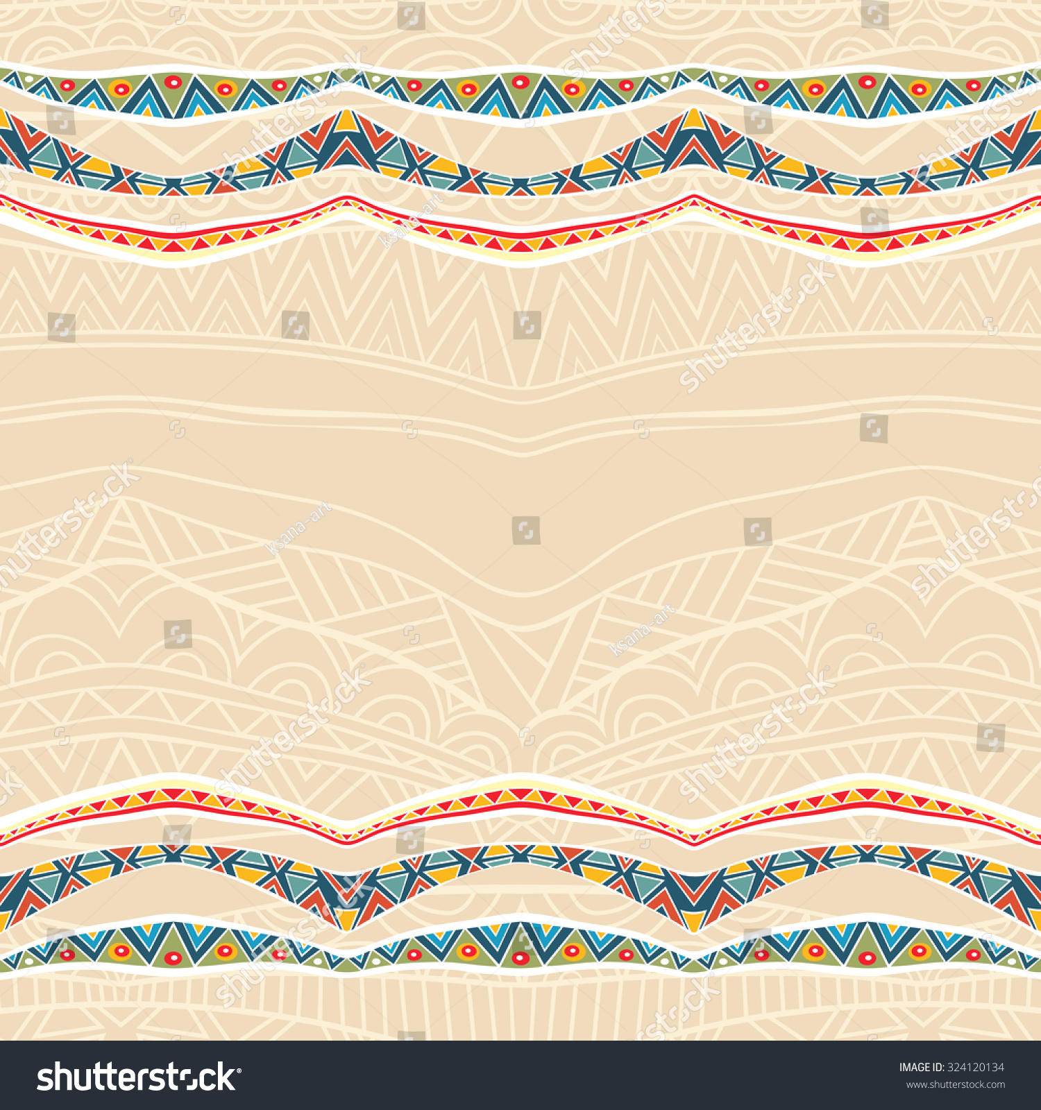 Festive background with ornate ribbons. Bright border with mexican ...