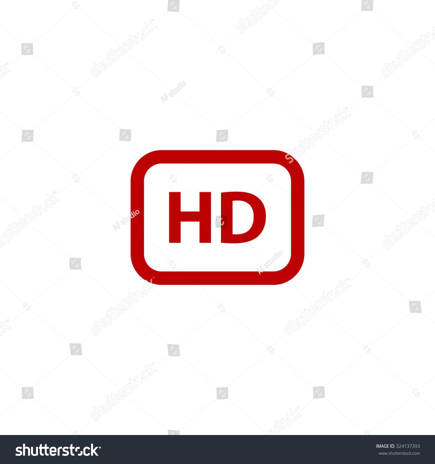 Hd word button red flat icon stock illustration 324137393 hd word button red flat icon illustration symbol on white background buycottarizona