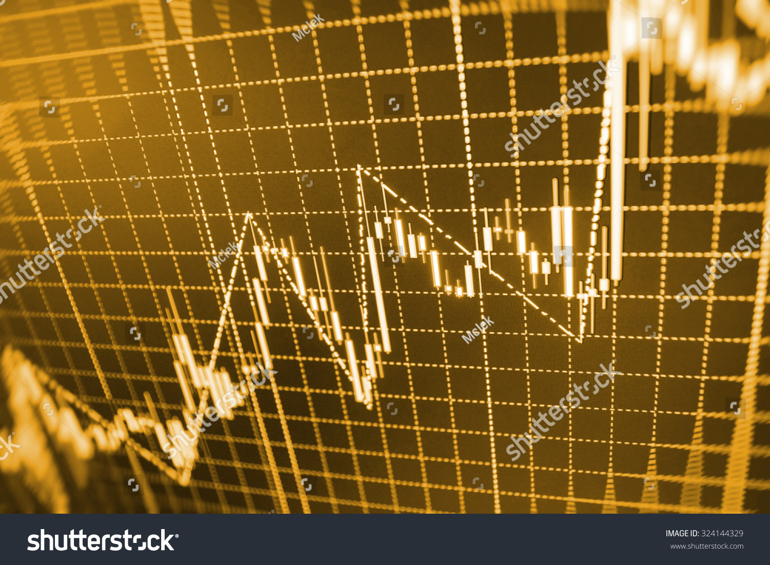Live Gold Quotes Stock Market Graph Bar Chart Price Stock Photo 324144329