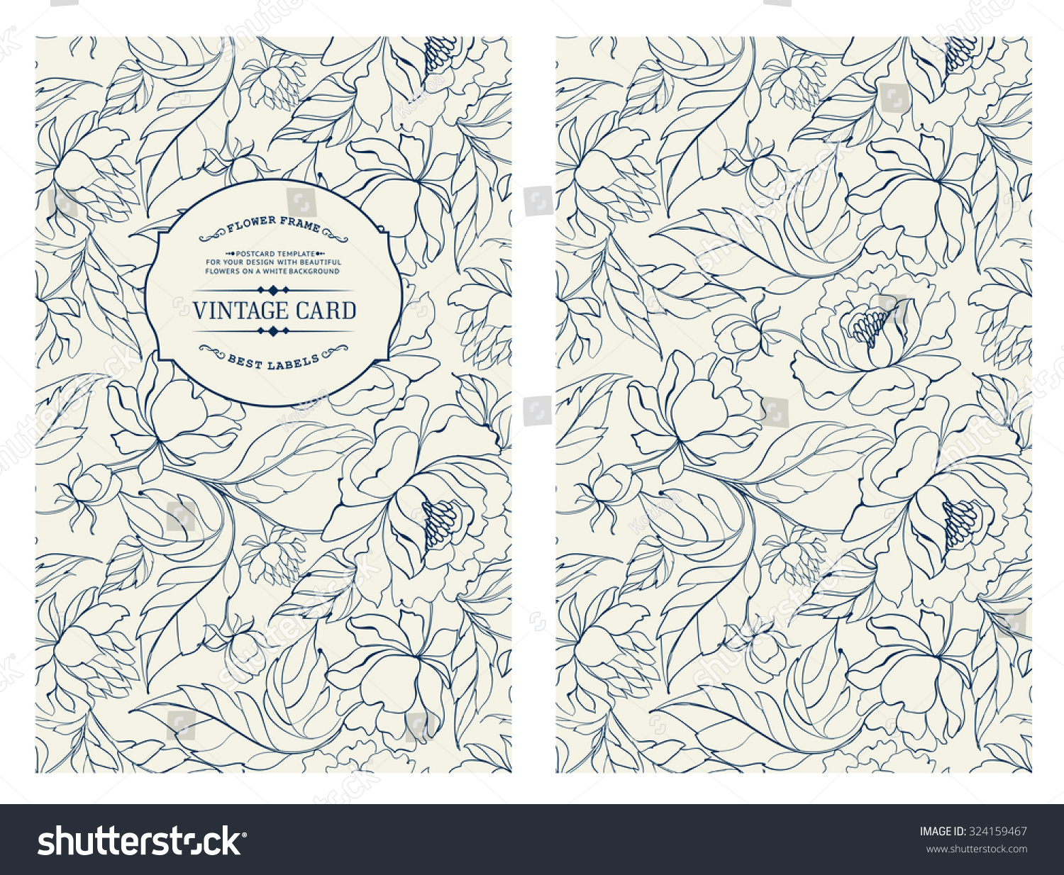 Poetry Book Cover Vector : Vintage card flowers on background book vectores en stock