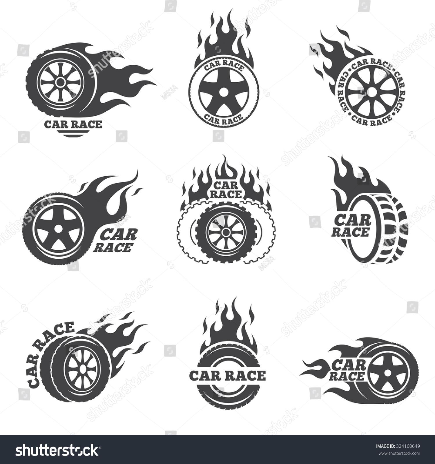 Hot wheels flames clip art fiery car stock vectors amp vector clip art
