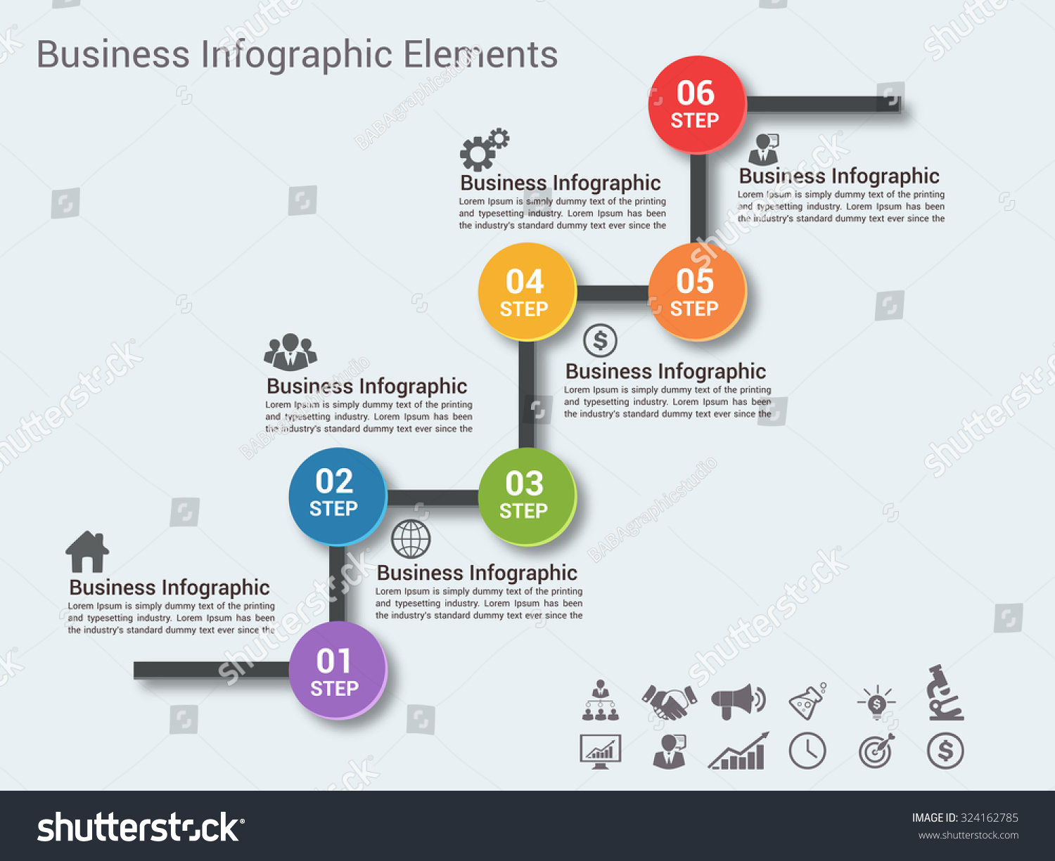 Business Timeline Infographic Template Vector Illustration Stock - Timeline infographic template