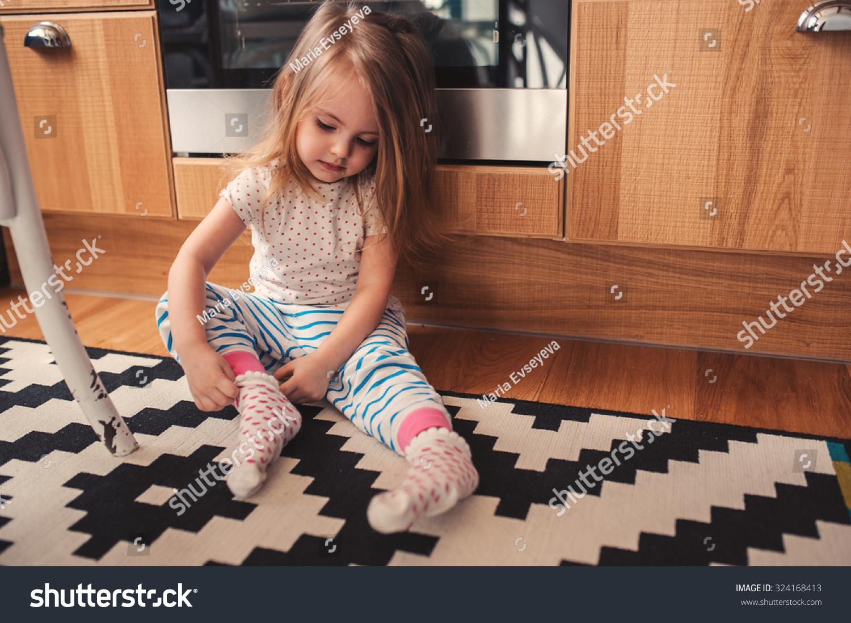 Cute girls wearing socks