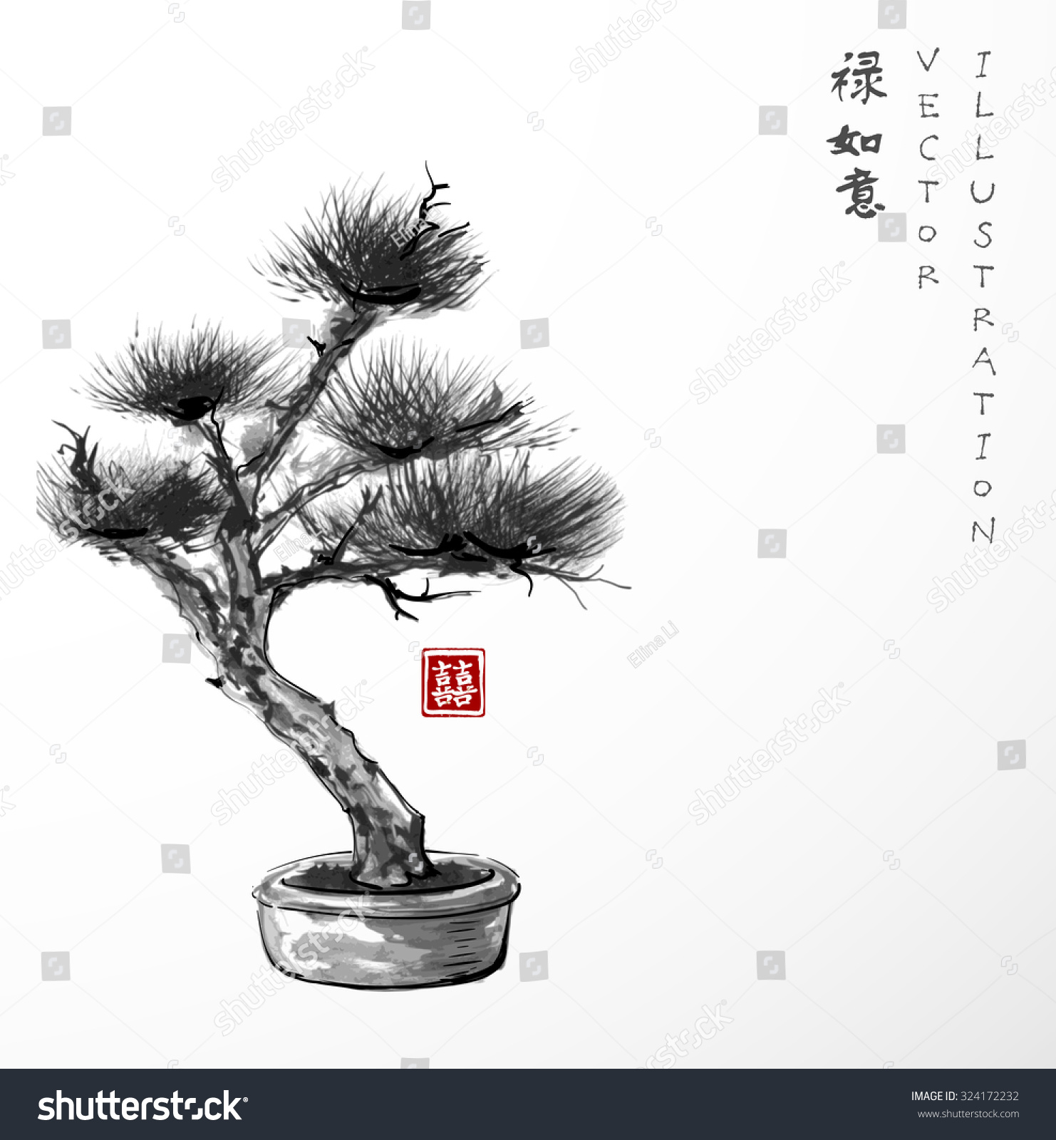 Bonsai pine tre...