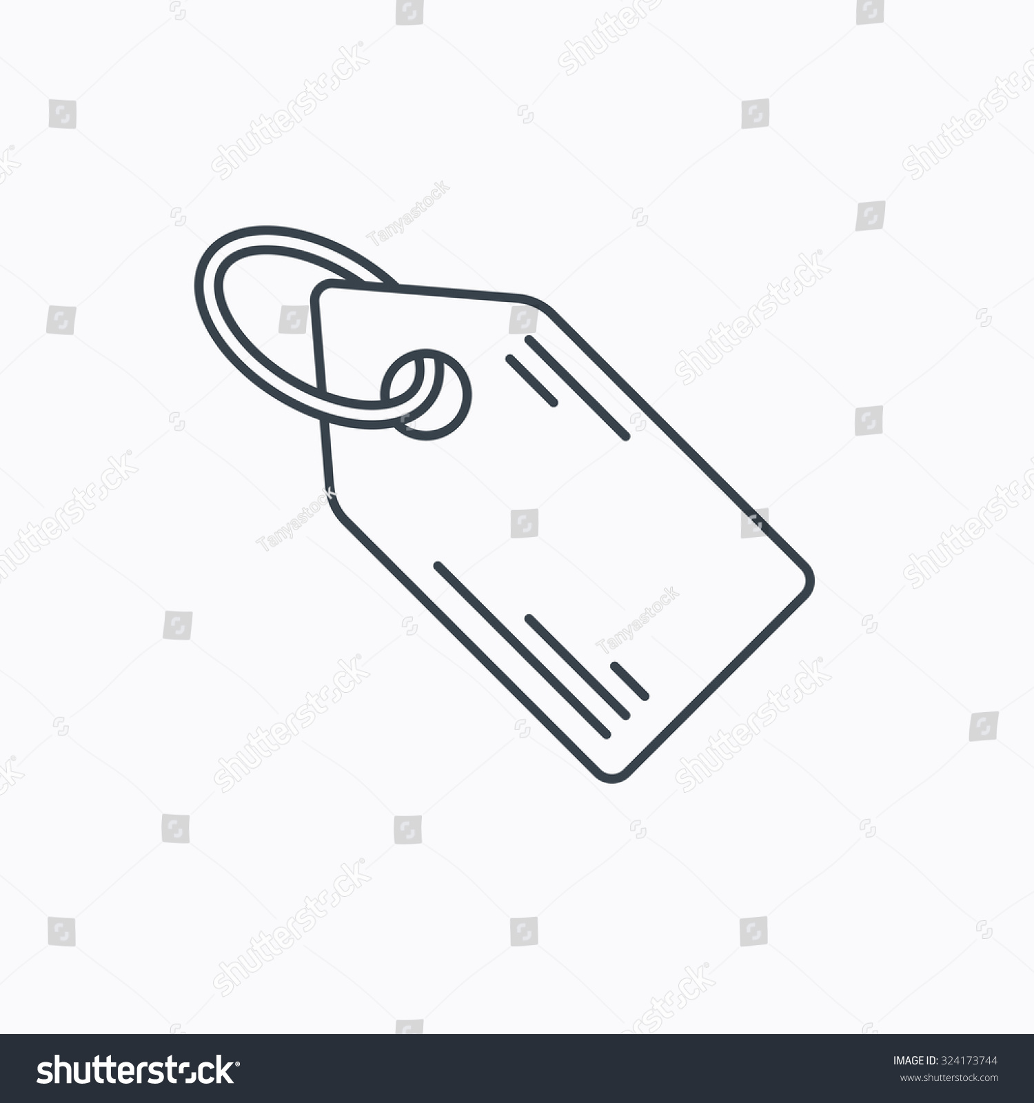 Price Tag Icon Discount Label Sign Stock Vector Royalty Free
