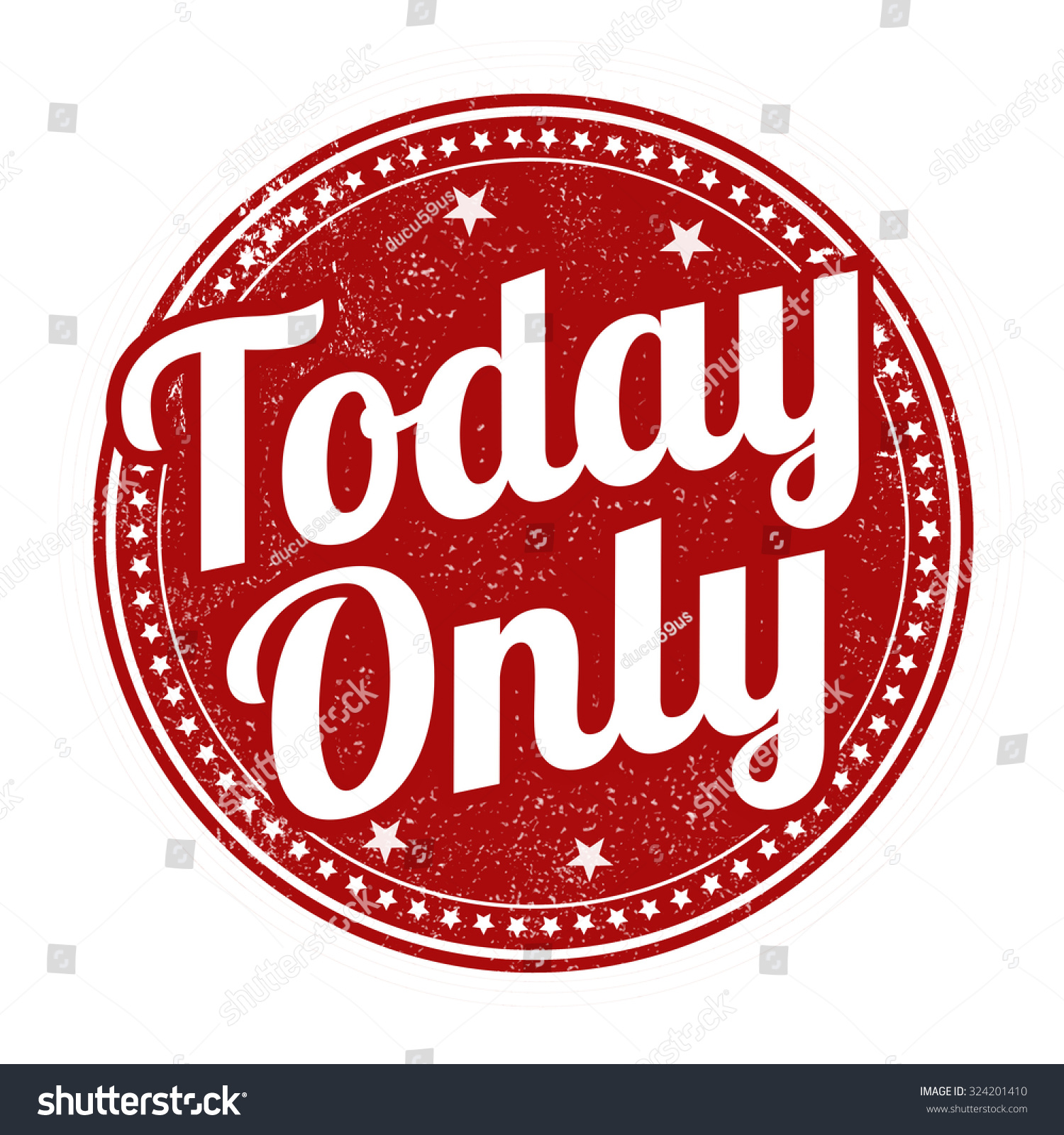 today only grunge rubber stamp on stock vector royalty free
