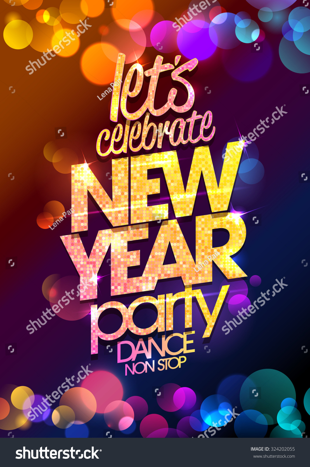 Lets Celebrate New Year Party Design Stock Vector 324202055 ...