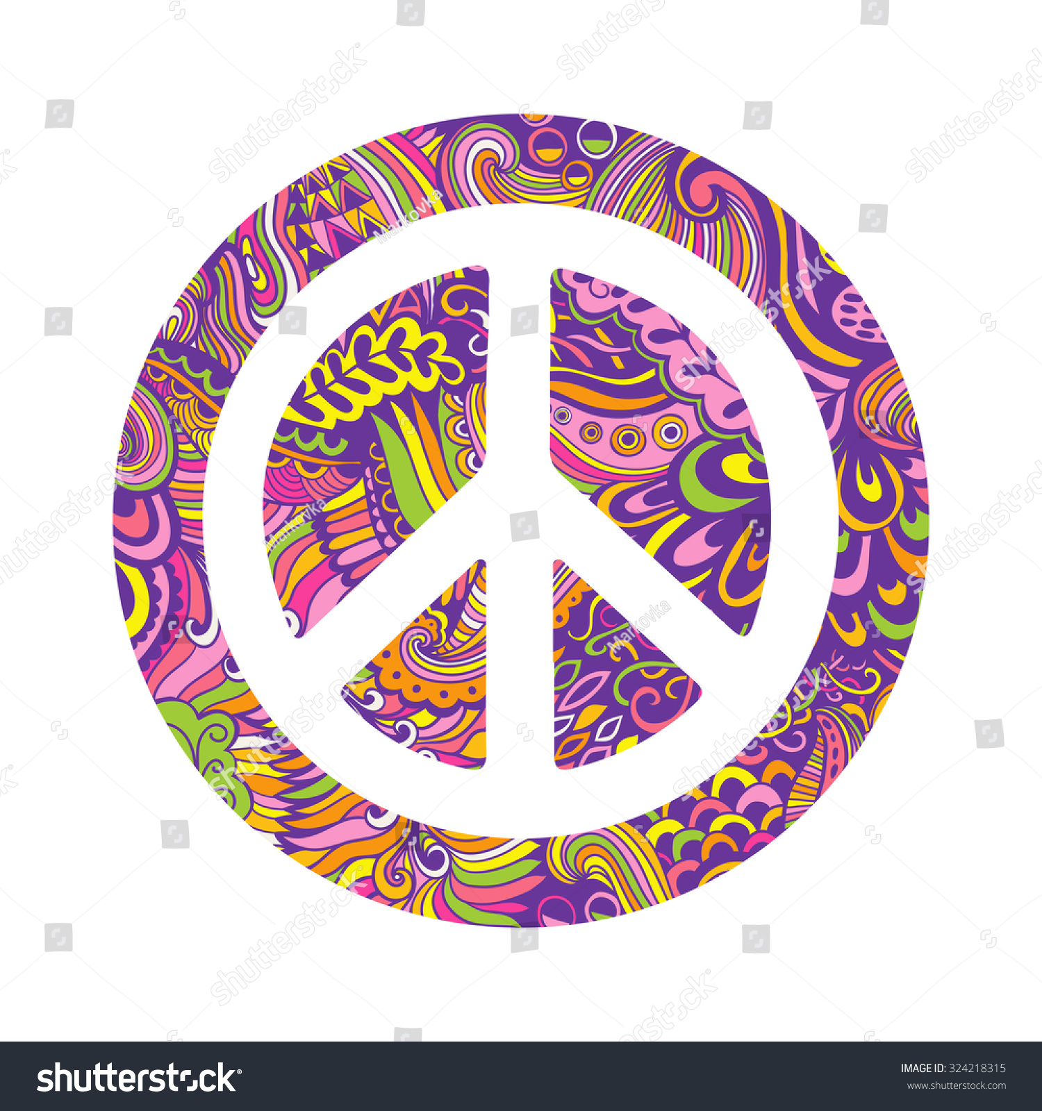 Vector peace symbol made zentangles pacifism stock vector 324218315 vector peace symbol made of zentangles pacifism sign hippie style ornamental background love biocorpaavc Choice Image