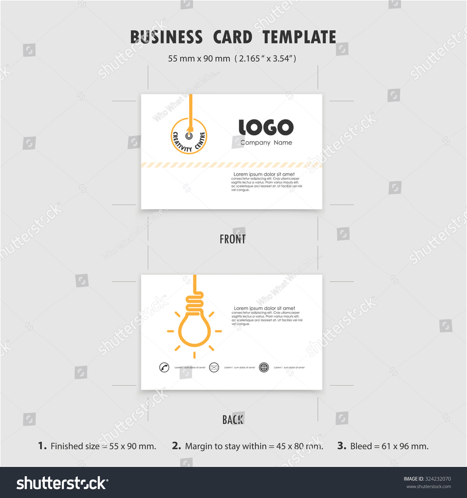 Abstract Creative Business Cards Design Template Stock Vector ...