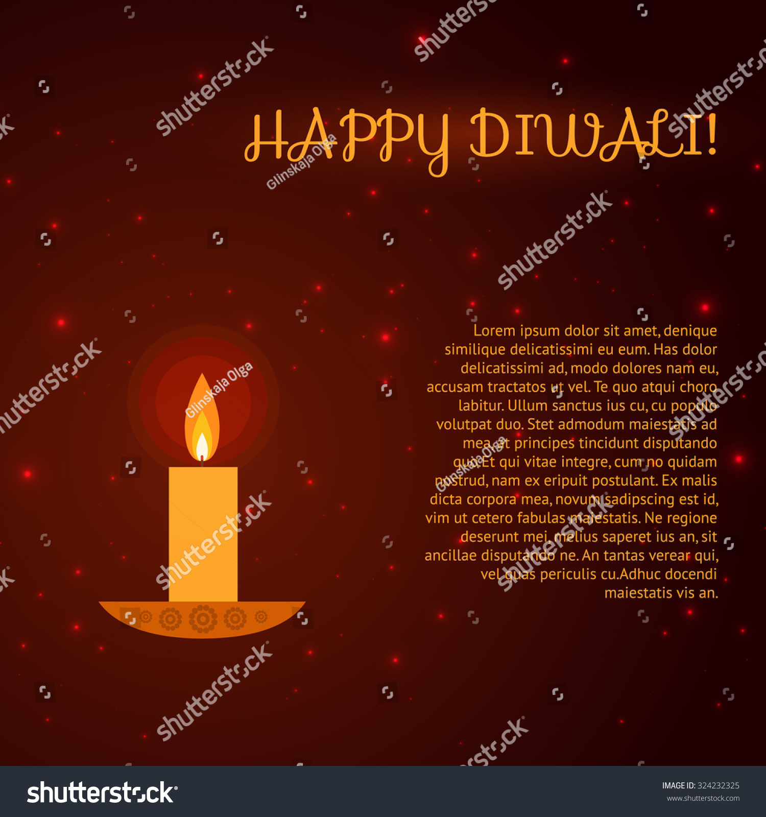 Diwali greeting card colorful background made stock vector diwali greeting card colorful background made in vector kristyandbryce Choice Image