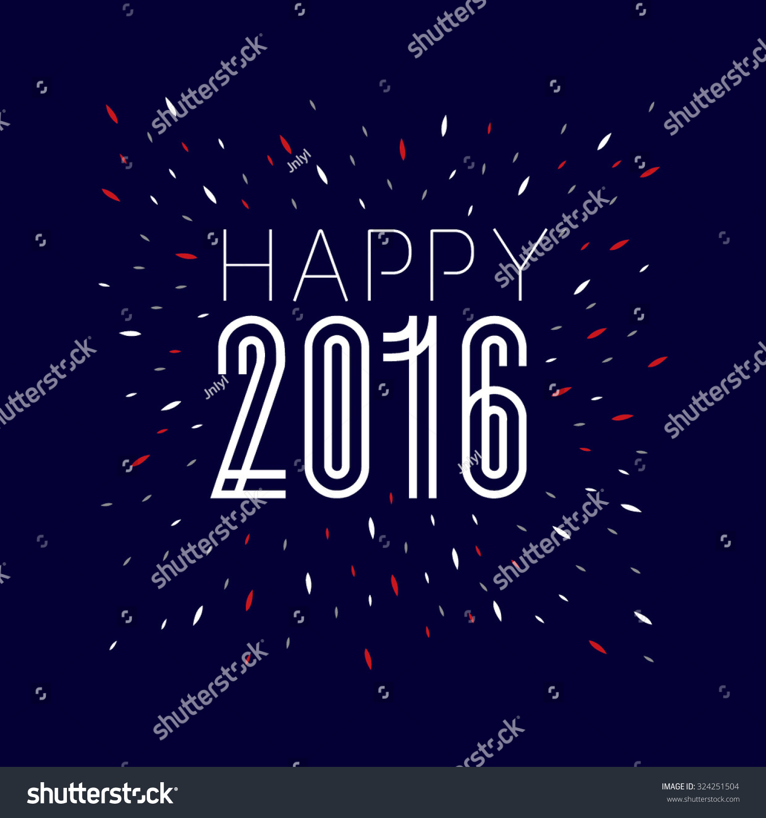 happy new year greetings with typography design celebrations wallpaper festive background with text
