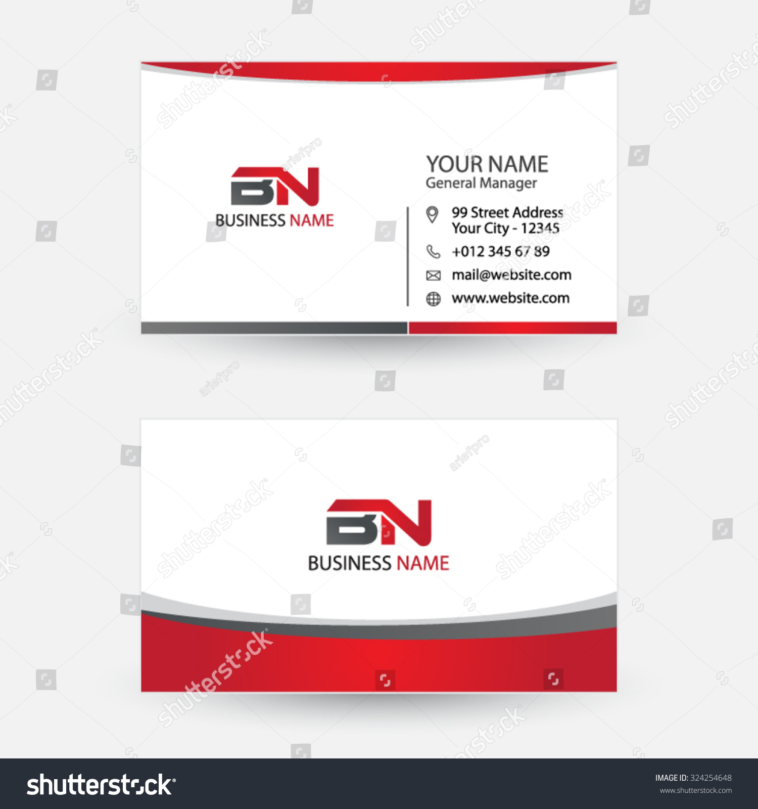 Clean Simple Modern Business Card Stock Vector