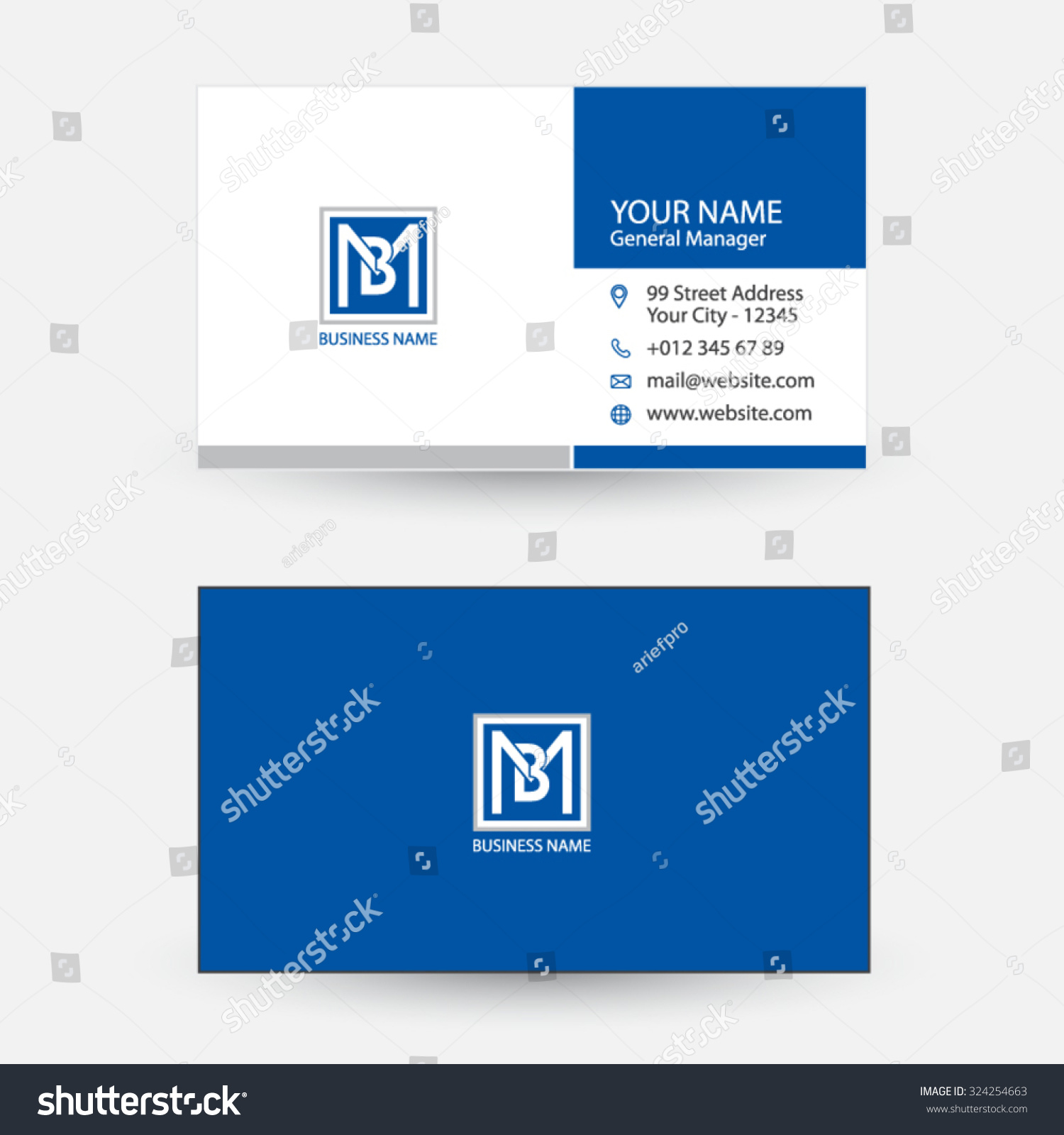 Clean And Simple Modern Business Card Stock Vector