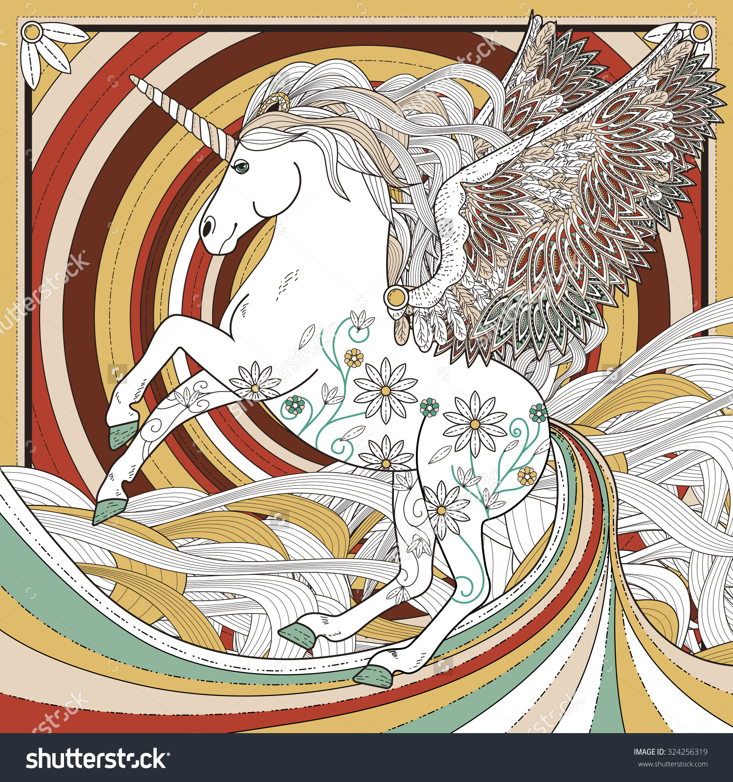 fantastical styles coloring pages - photo#33