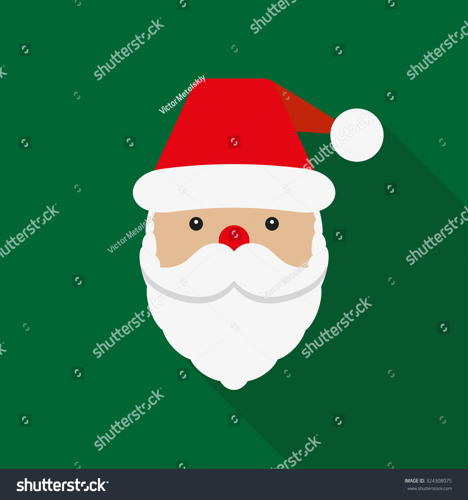 Santa Claus Icon Santa Claus Face Stock Vector Royalty Free