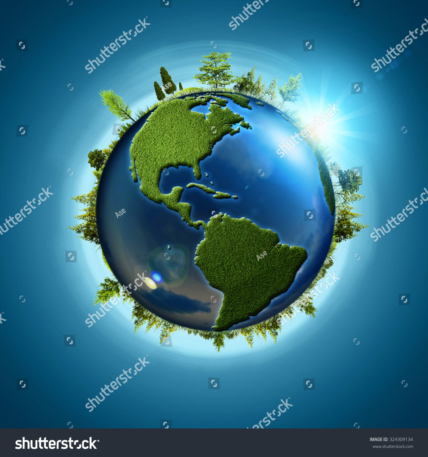 Blue Planet Abstract Eco Backgrounds Earth Stock Photo
