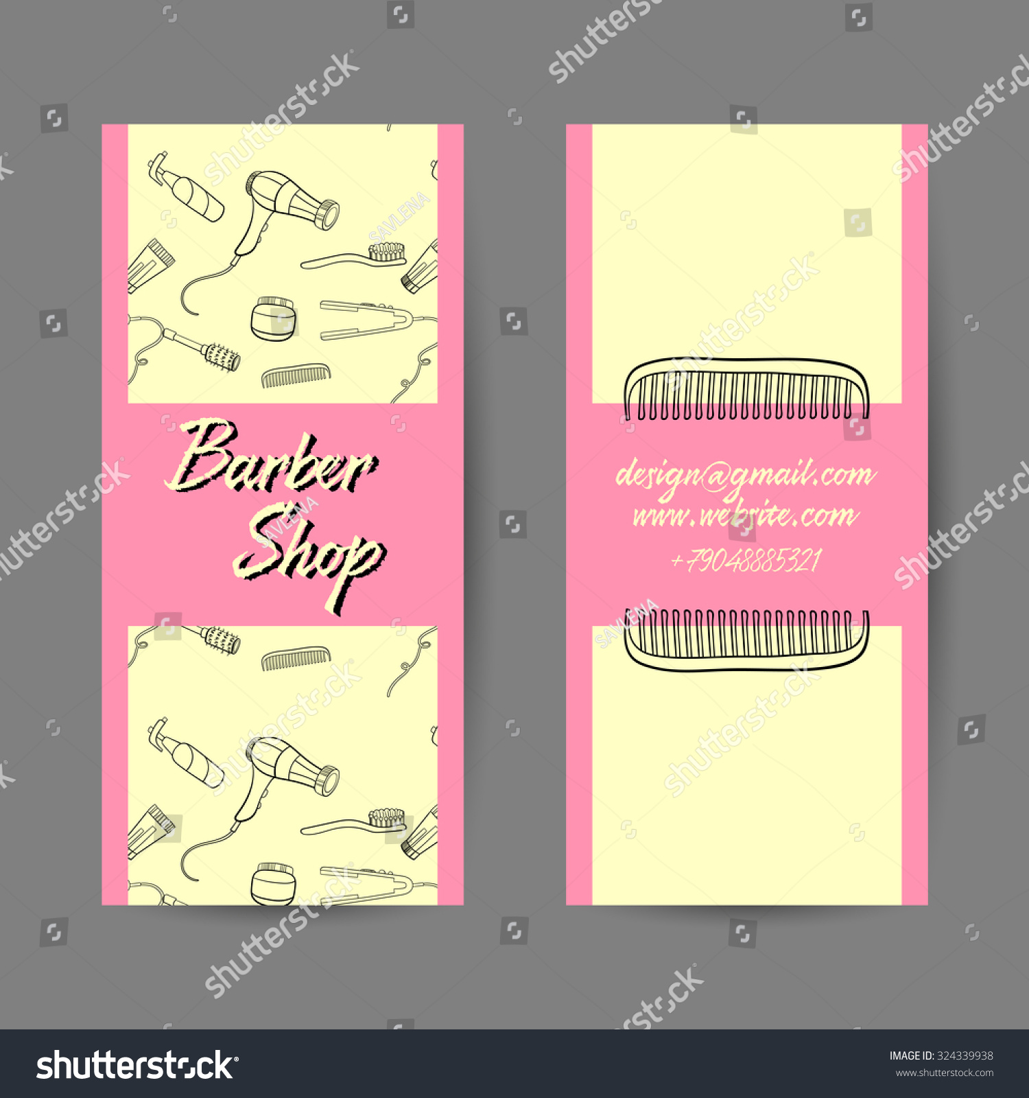 Sample of business cards images free business cards sample business card barber shop vector stock vector 324339938 sample of business card for barber shop magicingreecefo Gallery