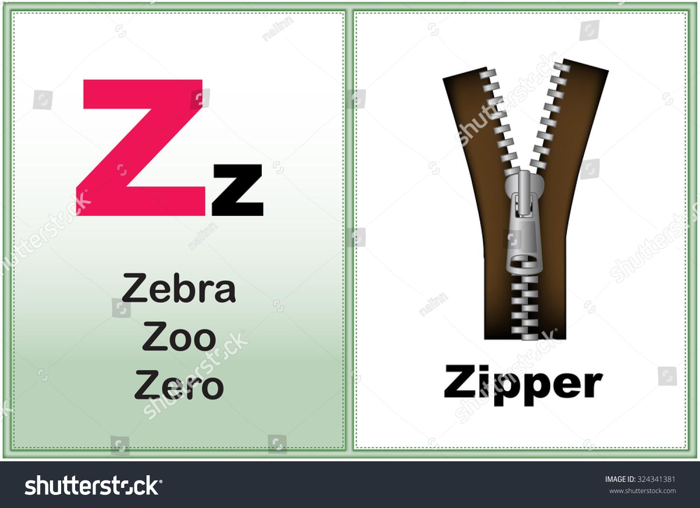 Alphabet Letter Z Clipart Few Similar Stock Illustration 324341381