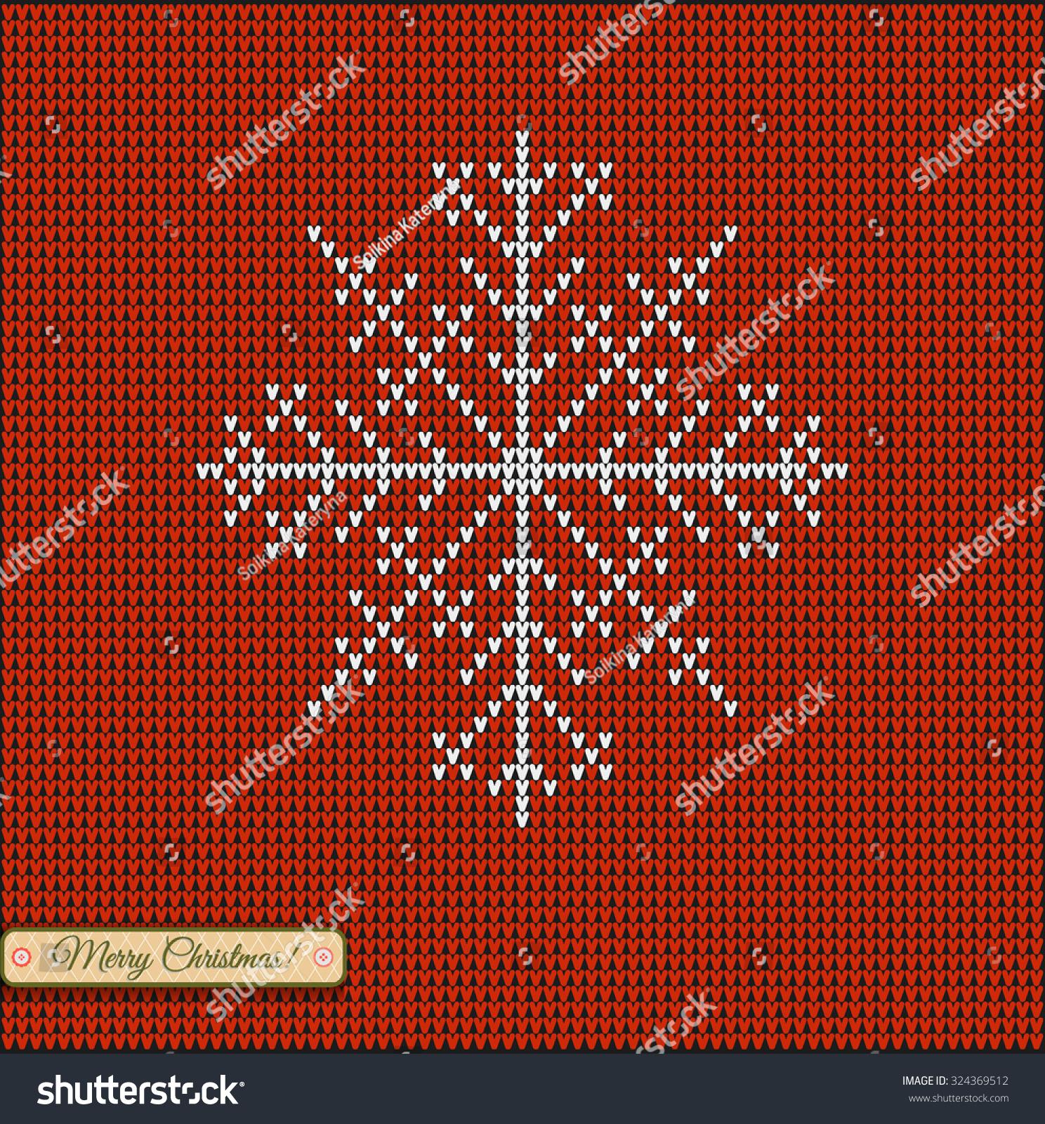 Christmas Star Snowflake Merry Christmas Scandinavian Stock Vector ...