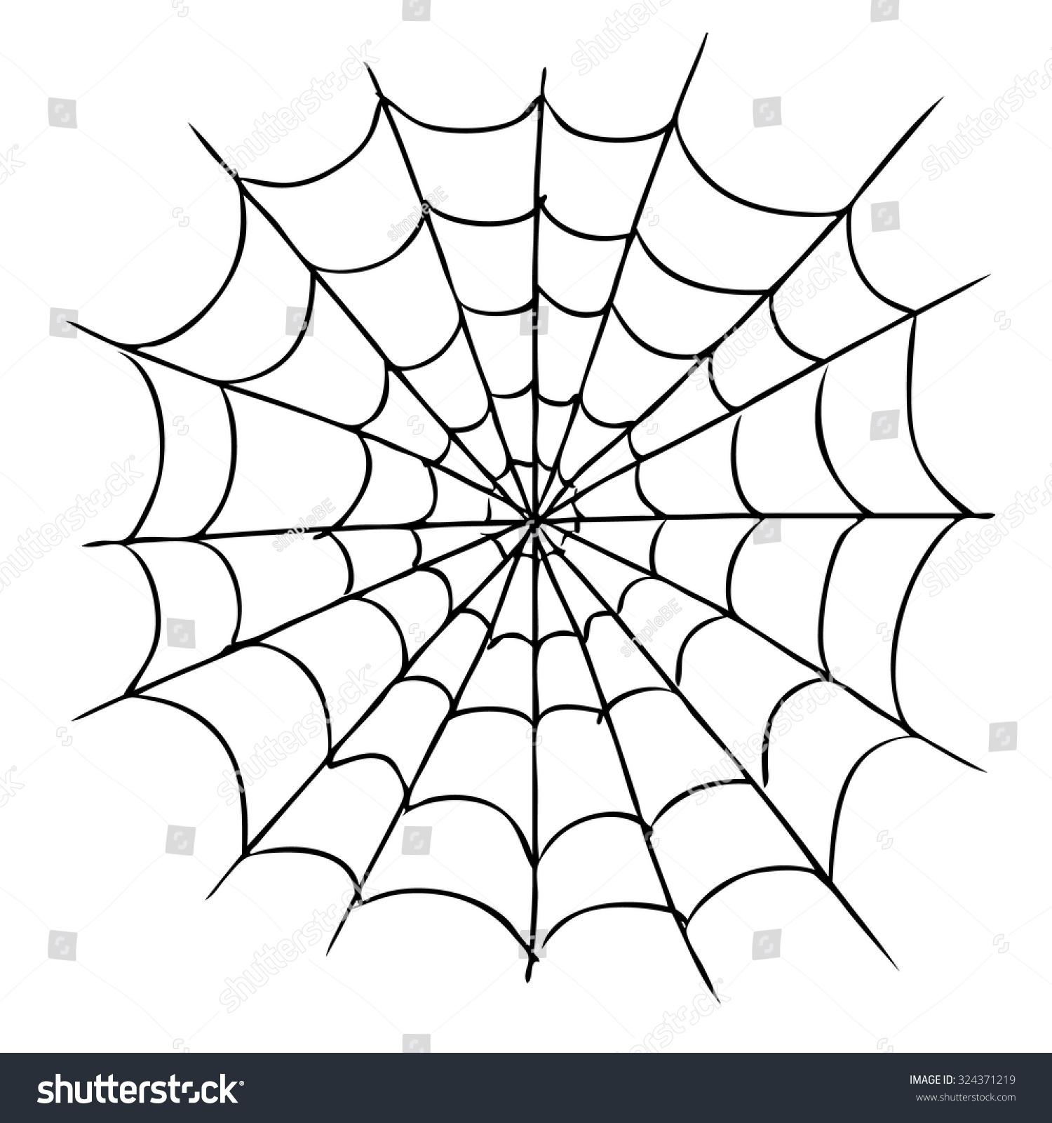 Freehand Sketch Illustration Of Spider Web Doodle Hand