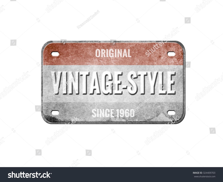 Old Plate Vintage License Plate Stock Illustration 324409703 ...