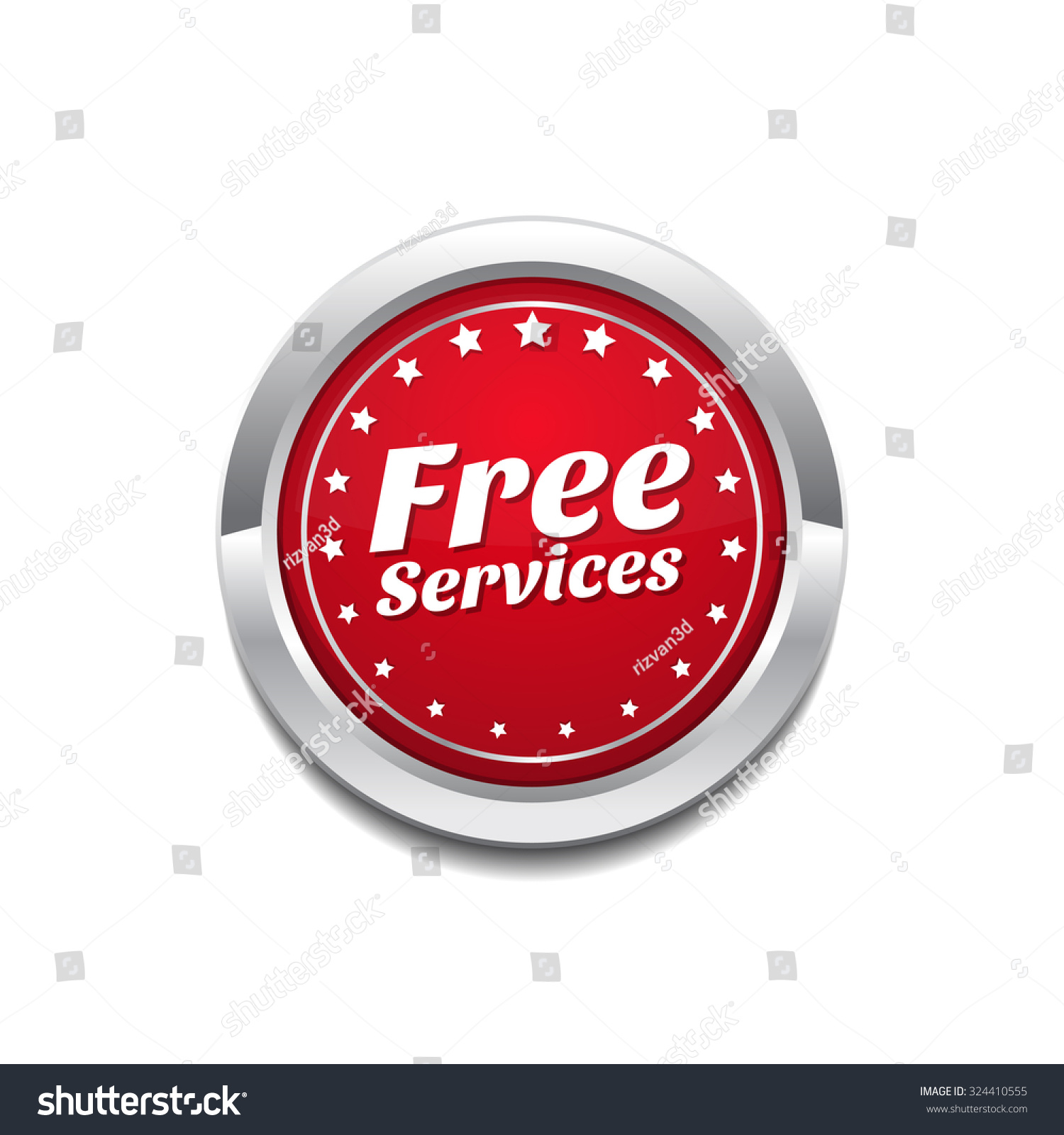 Free Services Red Vector Icon Button