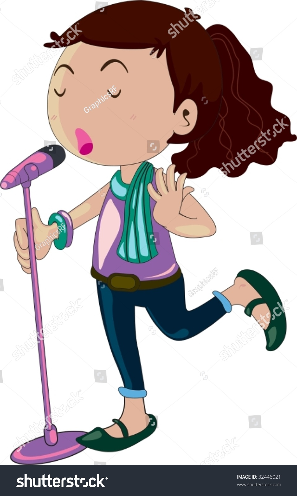 child singer clipart - photo #12